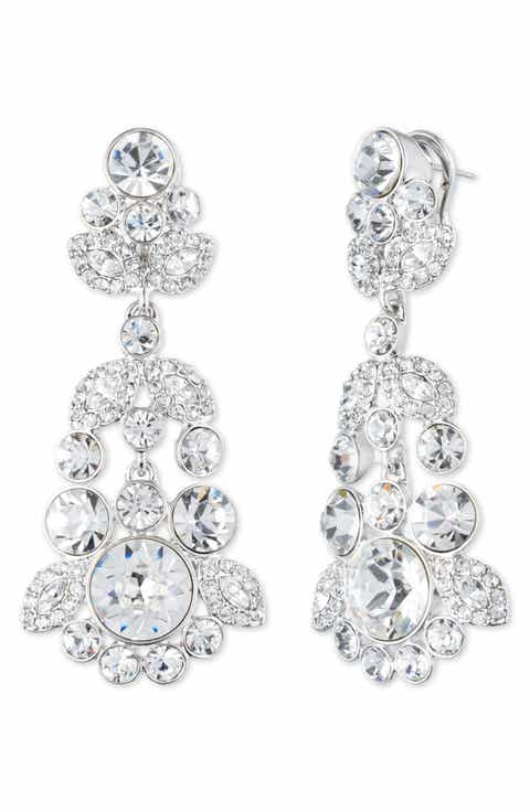 Womens crystal earrings nordstrom givenchy crystal chandelier earrings mozeypictures Image collections