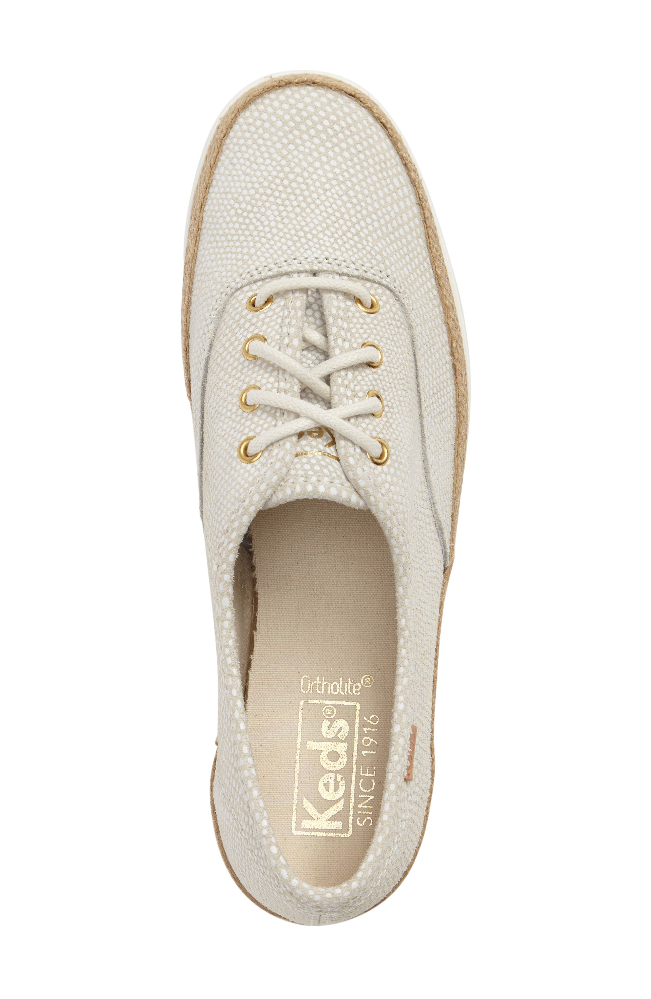 Triple Deck Platform Sneaker,                             Alternate thumbnail 5, color,                             Cream