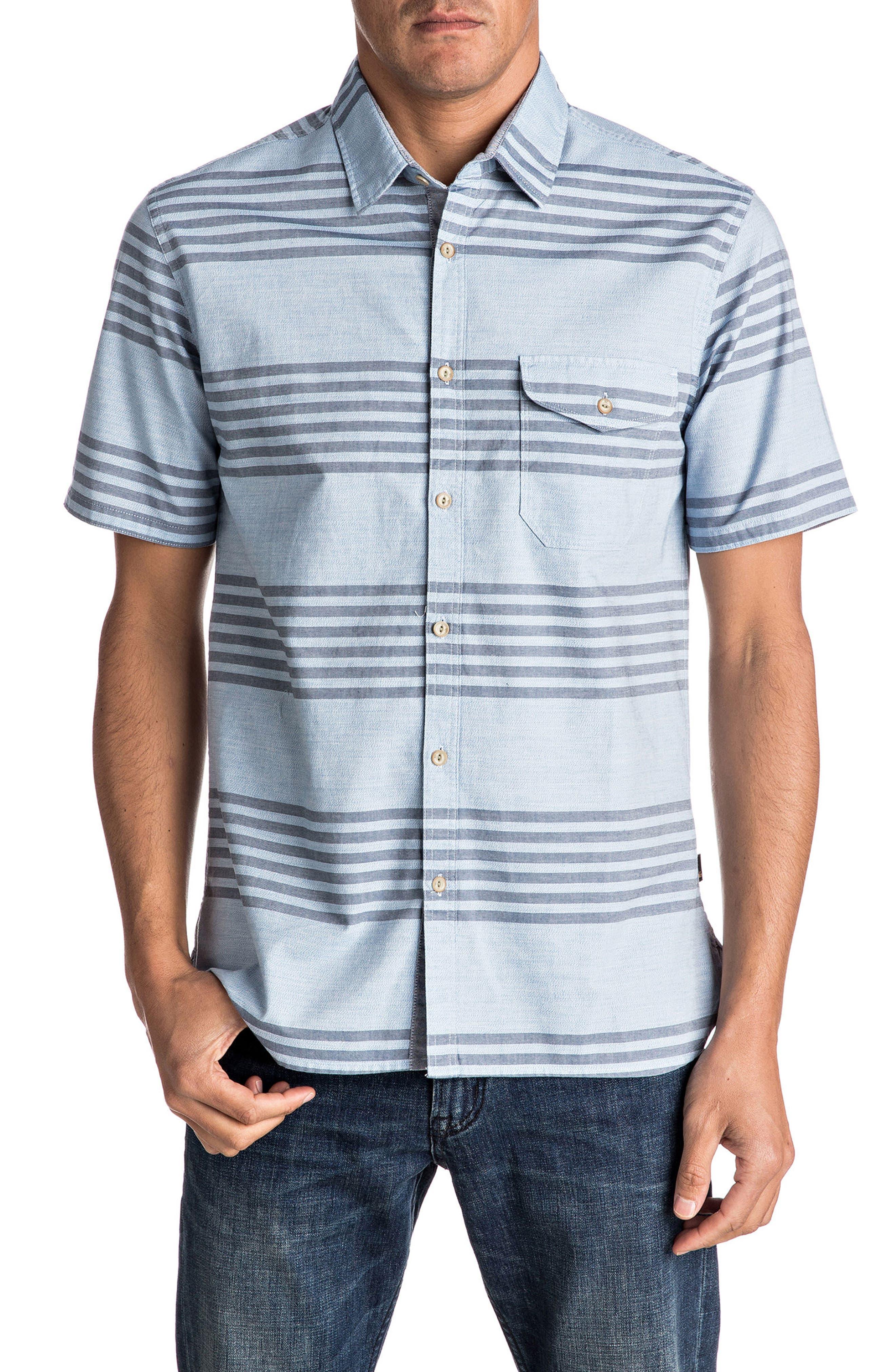 Quiksilver Srut Box Stripe Woven Shirt