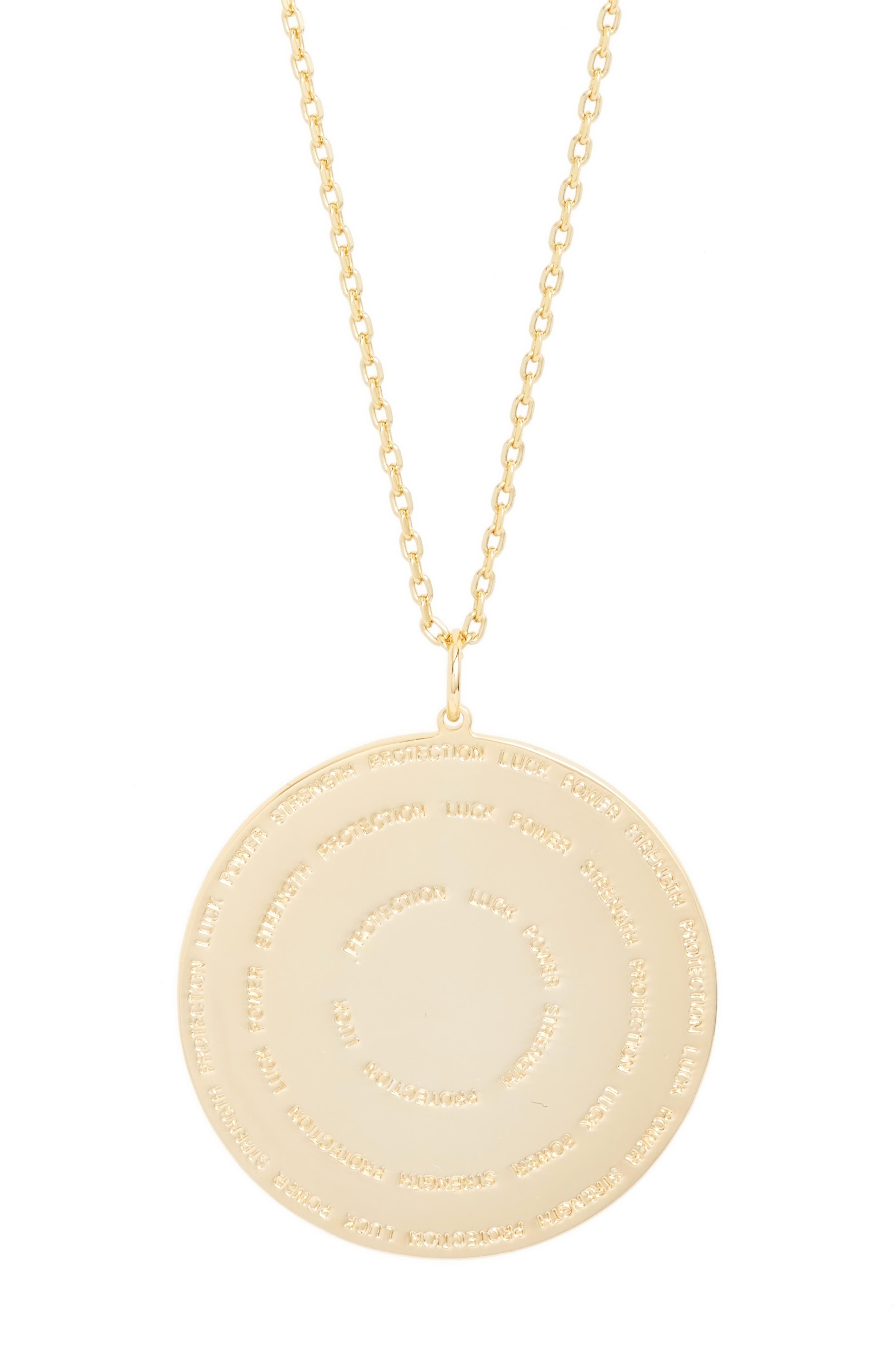 Hamsa Love Letters Pendant Necklace,                             Alternate thumbnail 4, color,                             Hamsa/ Gold