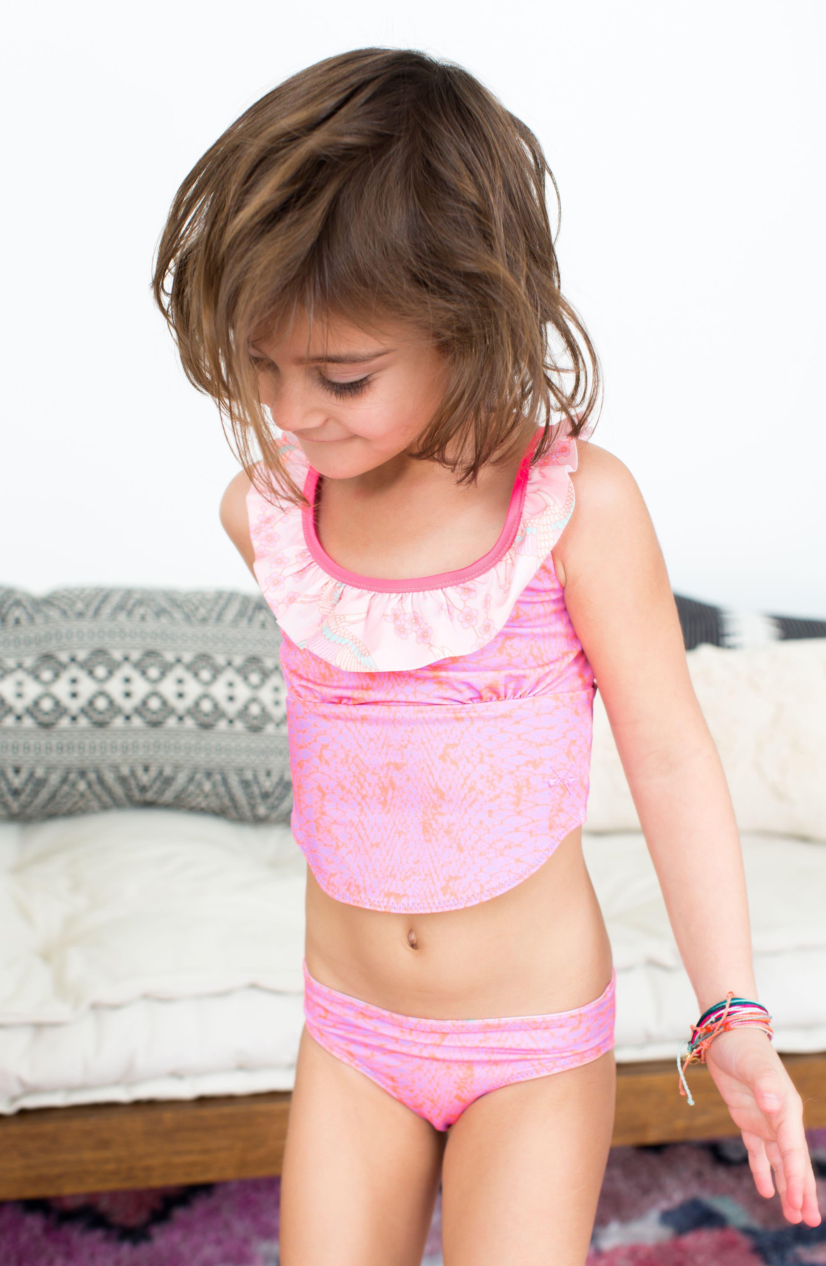 Alternate Image 3  - BOWIE X JAMES Dream Catcher Two-Piece Swimsuit (Toddler Girls, Little Girls & Big Girls)