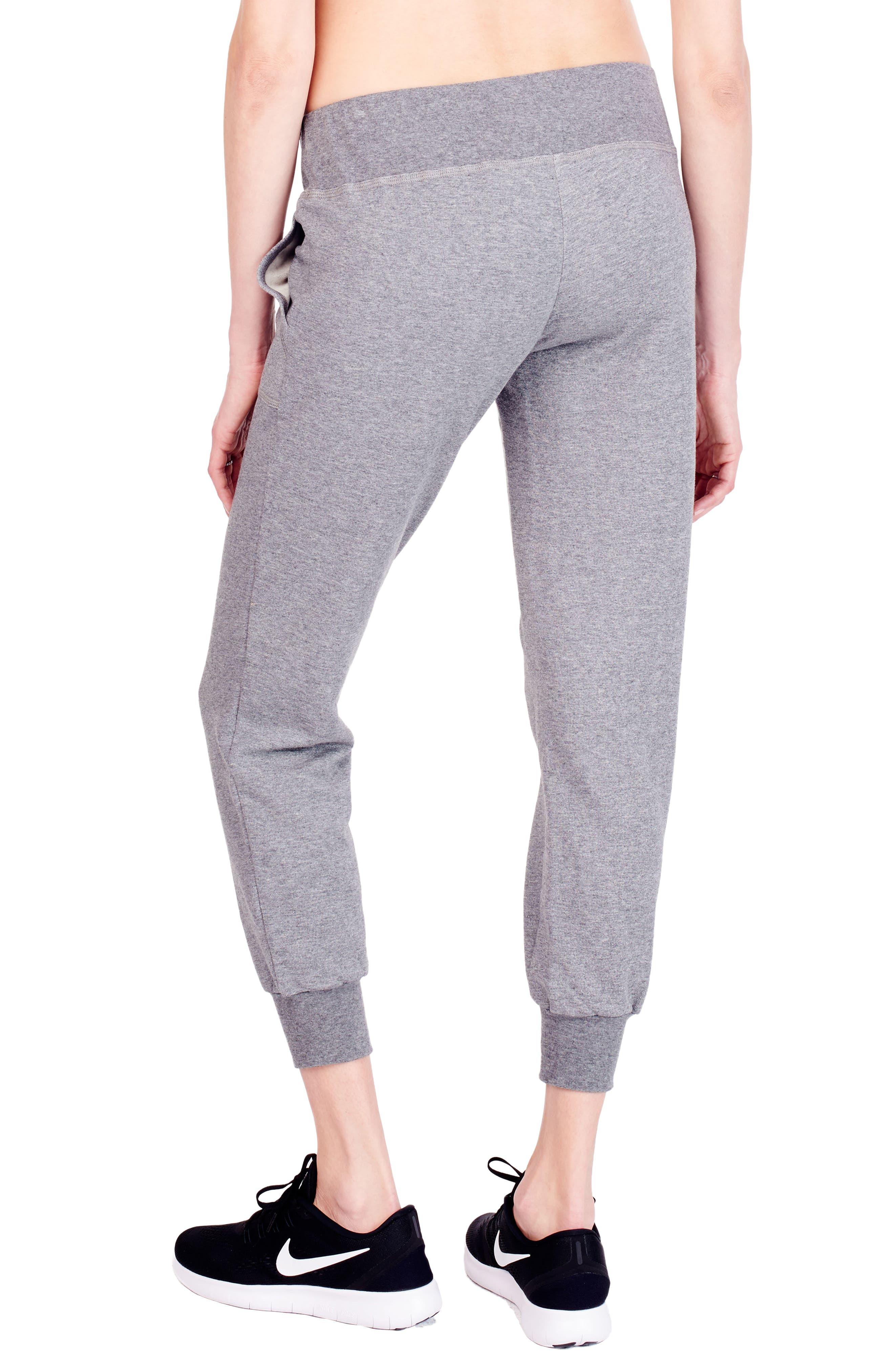 Alternate Image 3  - Ingrid & Isabel® Cozy Fleece Maternity Jogger Pants