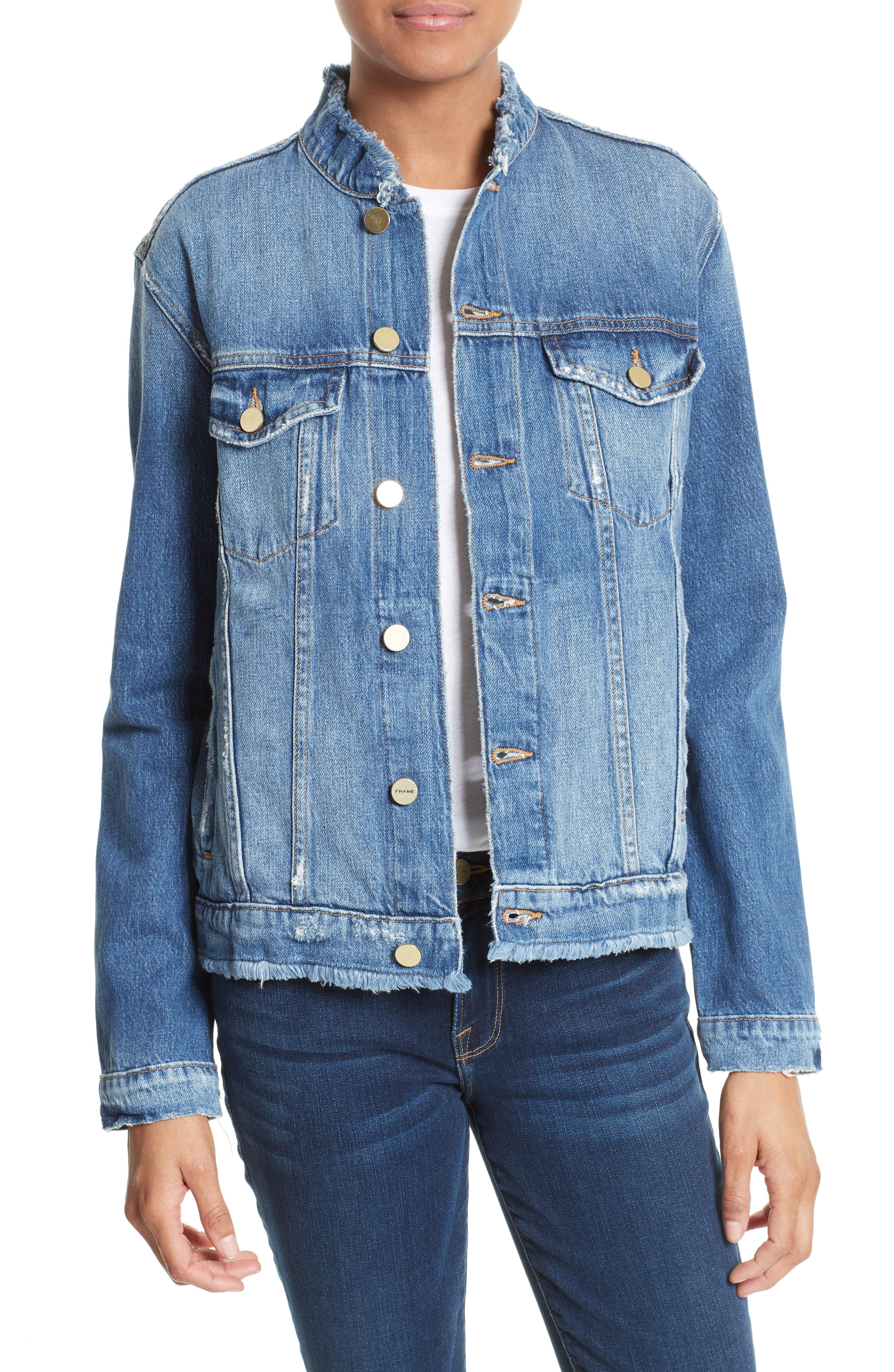 Alternate Image 1 Selected - FRAME Le Fray Denim Jacket (Nordstrom Exclusive)