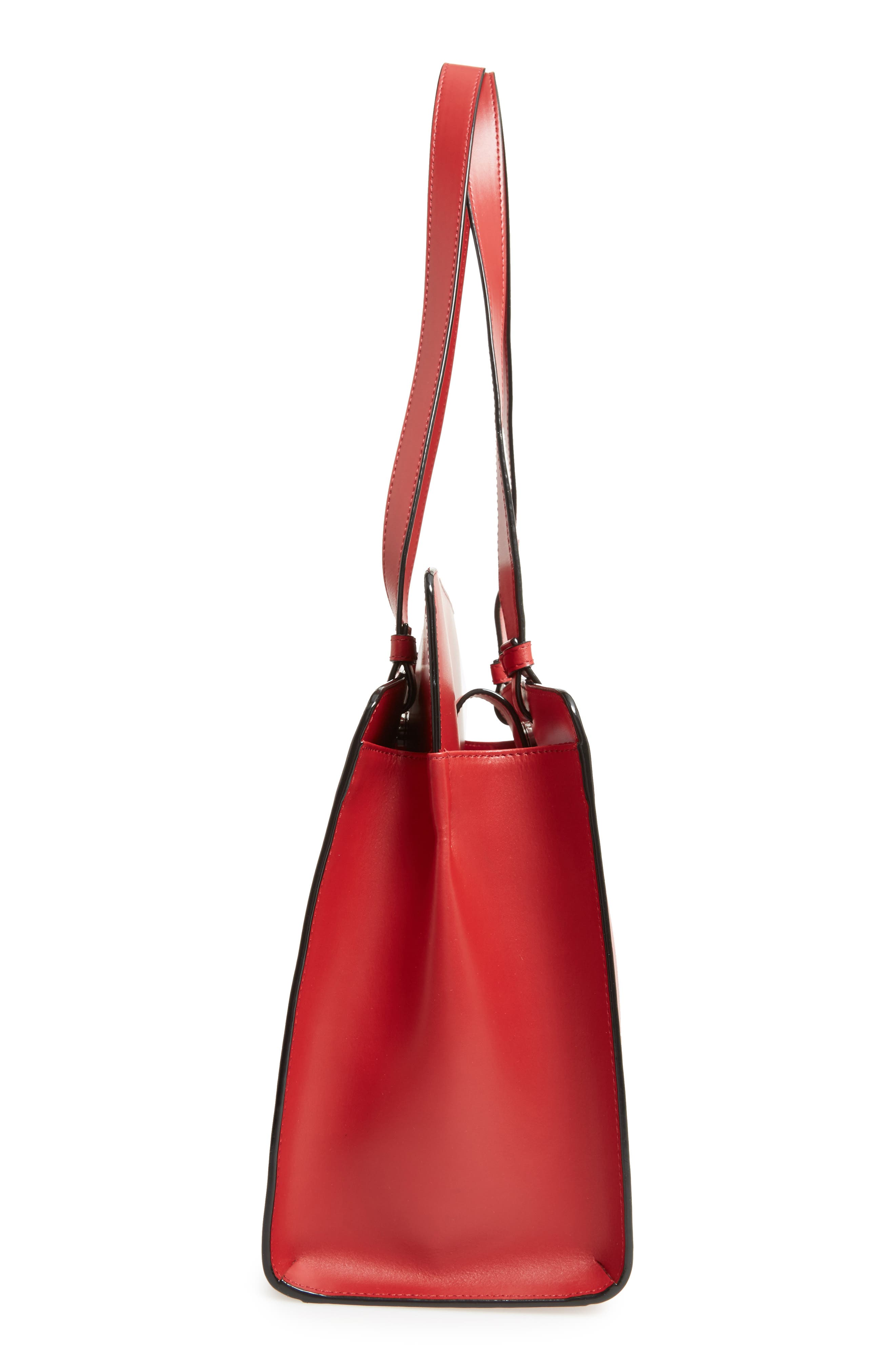 Lodis Audrey Collection - Jana Leather Tote,                             Alternate thumbnail 5, color,                             Red