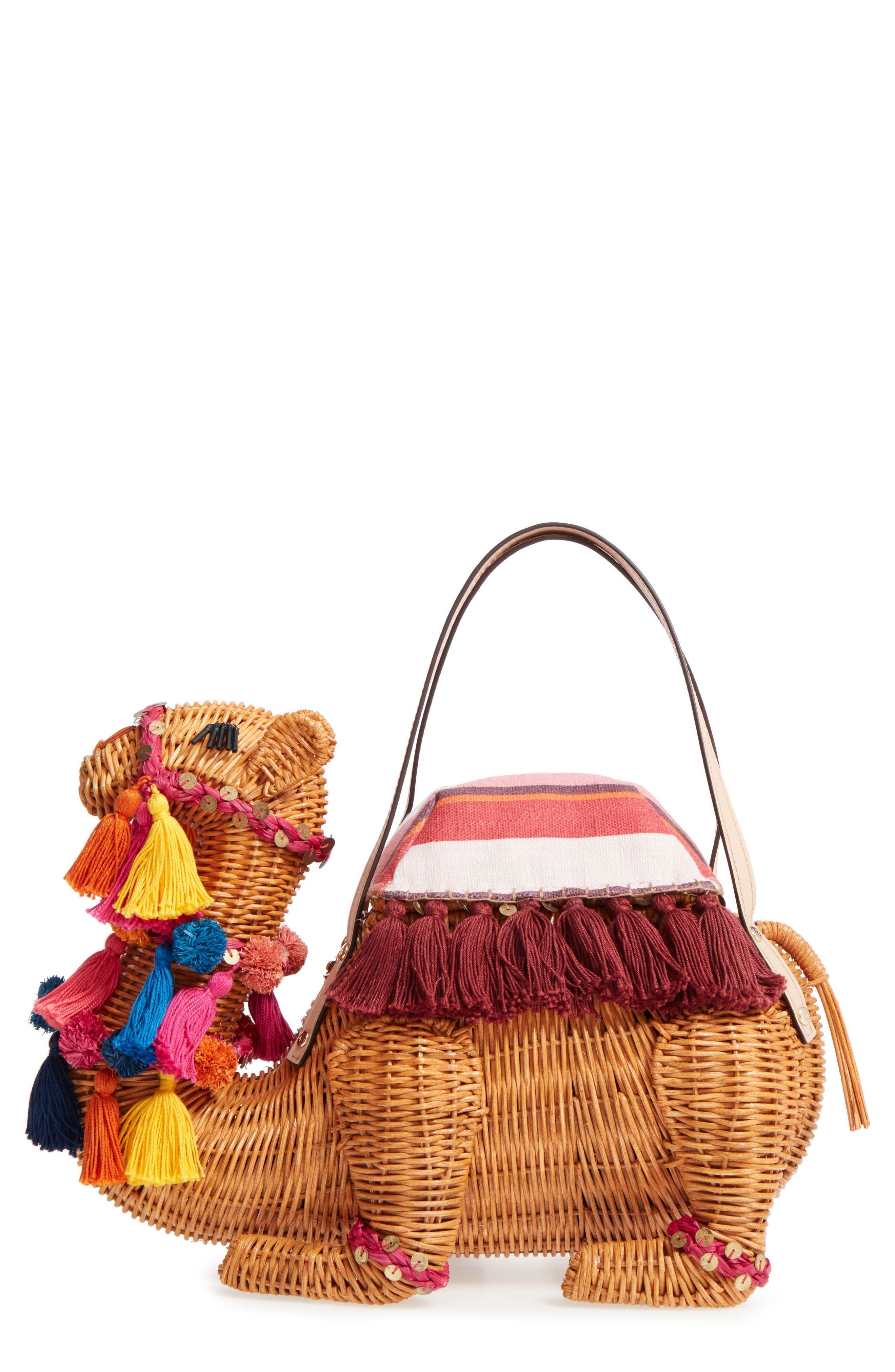 Alternate Image 1 Selected - kate spade new york spice things up wicker camel handbag