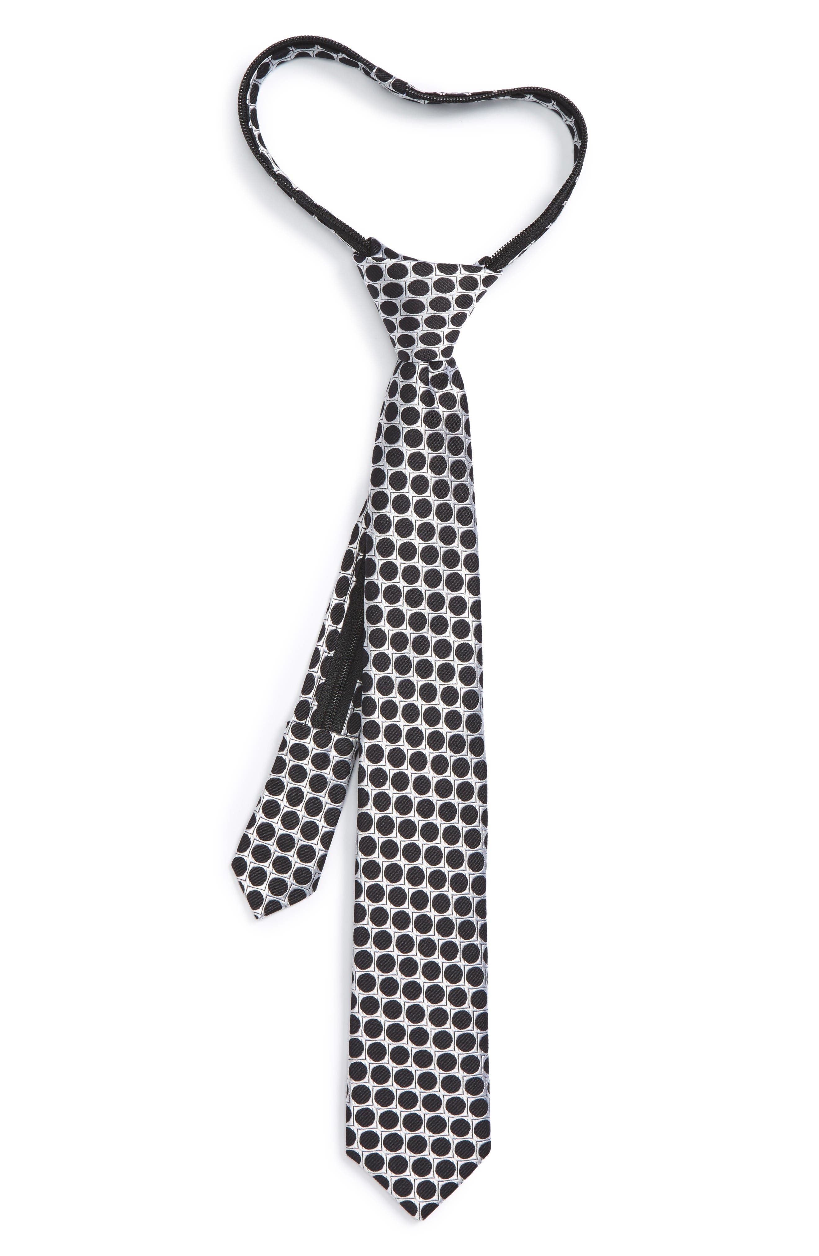 NORDSTROM Dot Silk Zip Tie