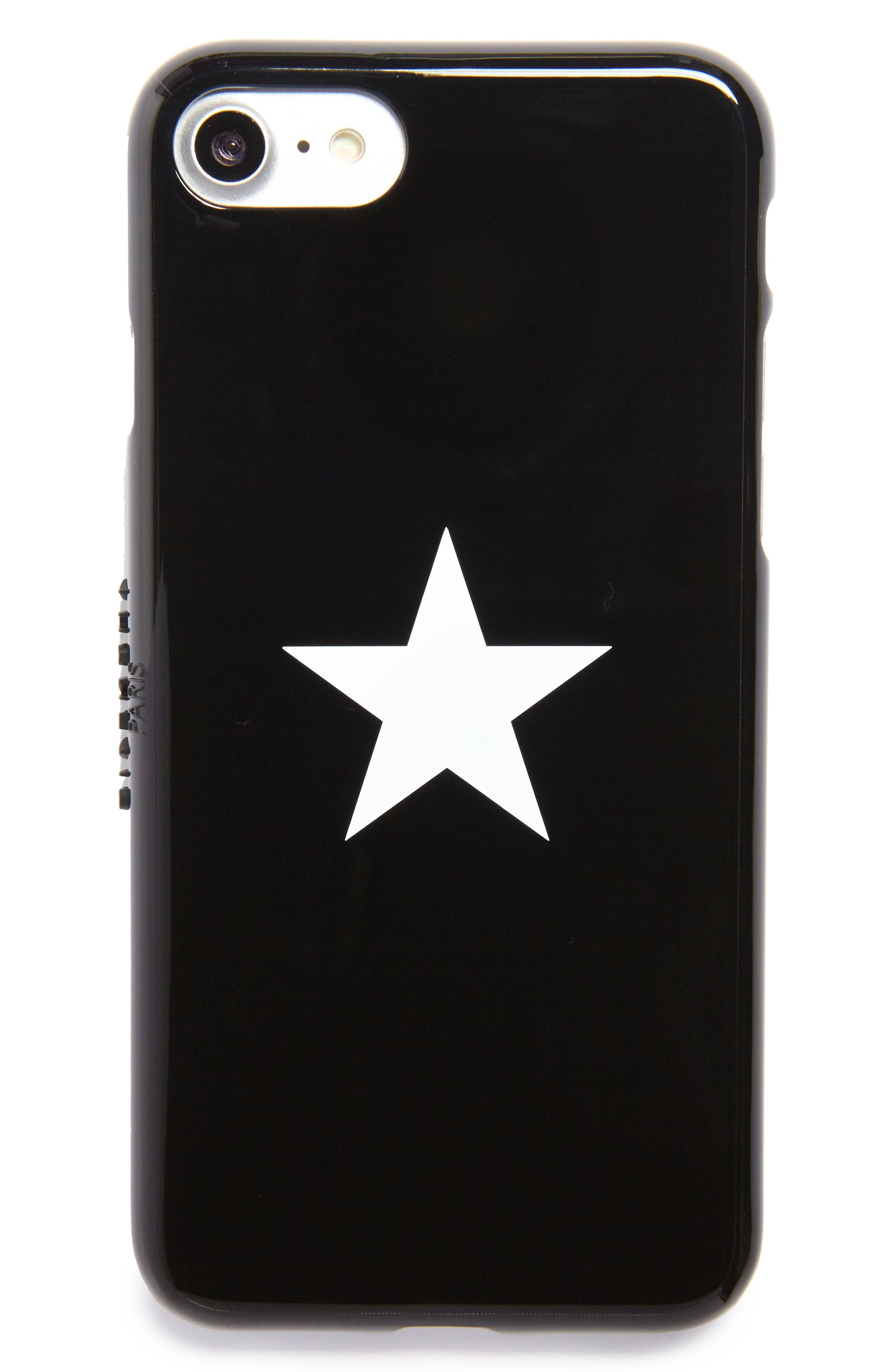 Star Tech iPhone 7 Case,                             Main thumbnail 1, color,                             Black