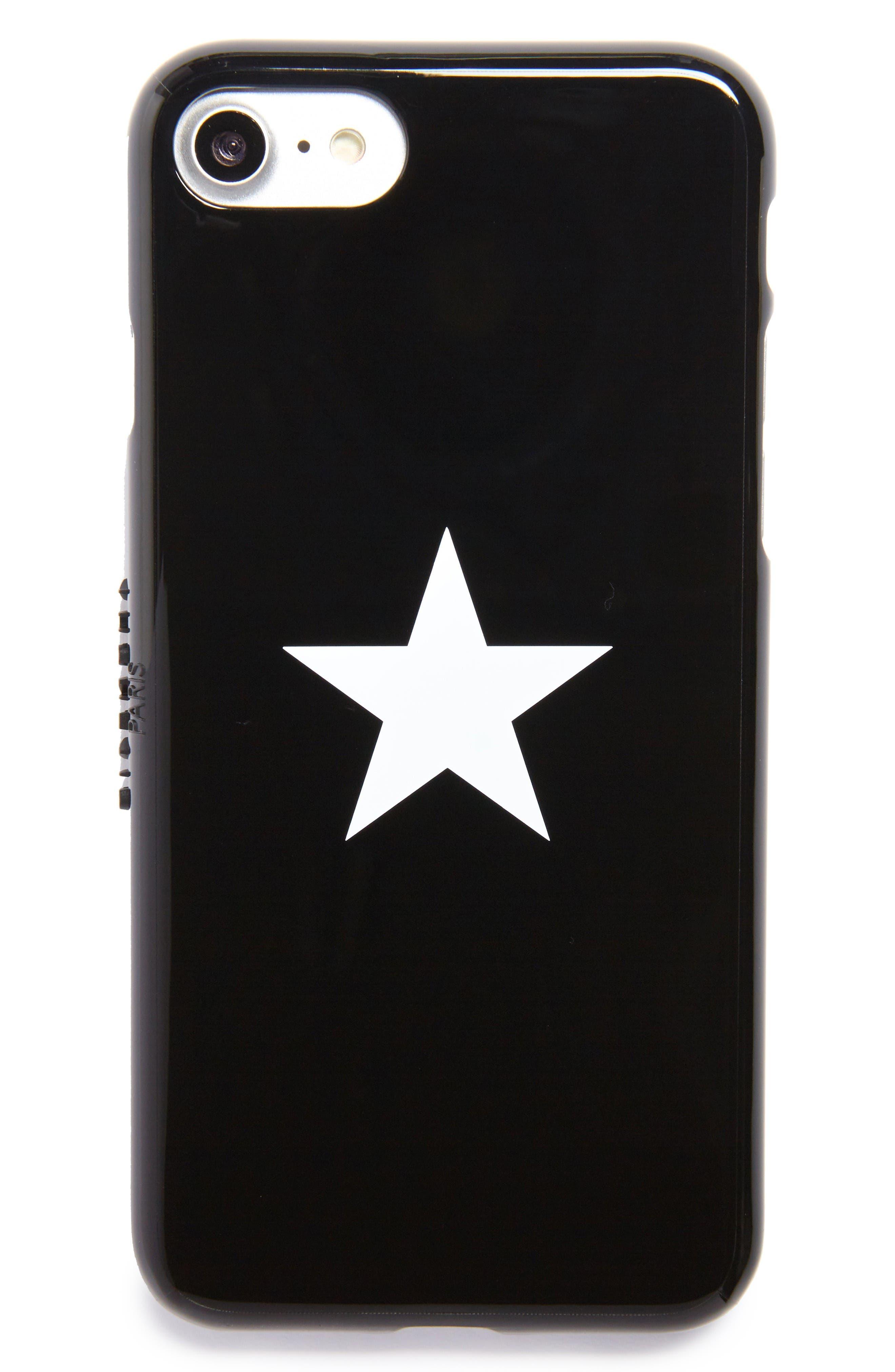 Star Tech iPhone 7 Case,                         Main,                         color, Black