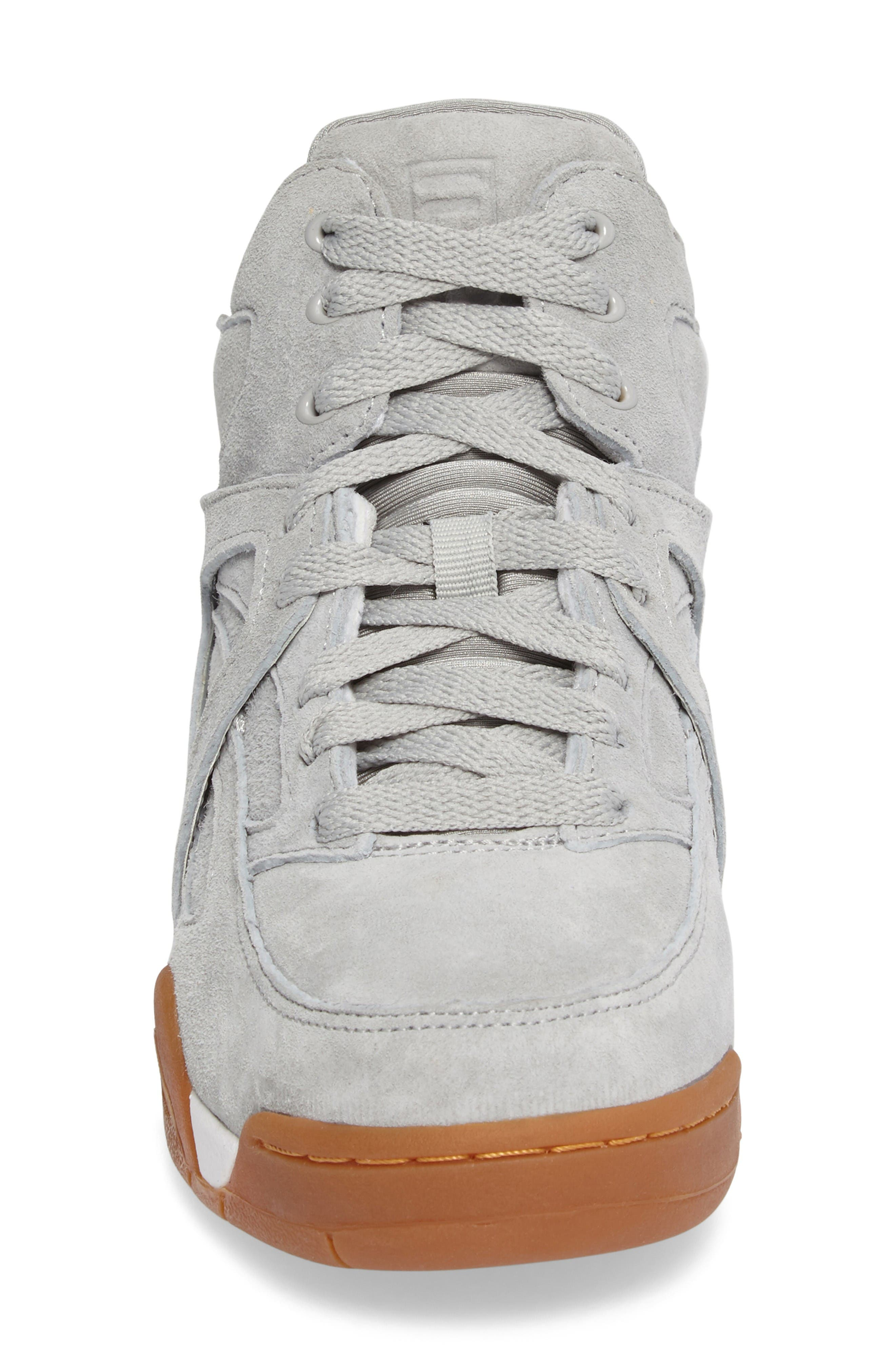 The Cage High Top Sneaker,                             Alternate thumbnail 4, color,                             High Rise Nubuck Leather