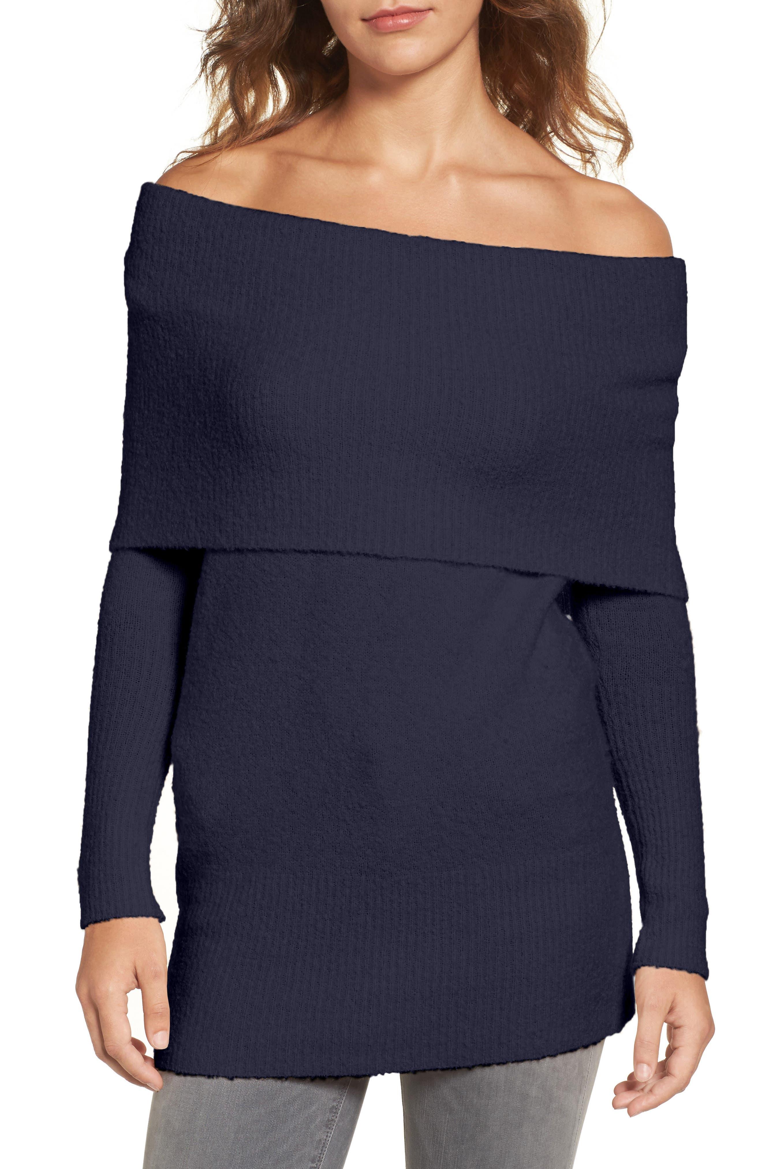 Main Image - Trouvé Off the Shoulder Tunic