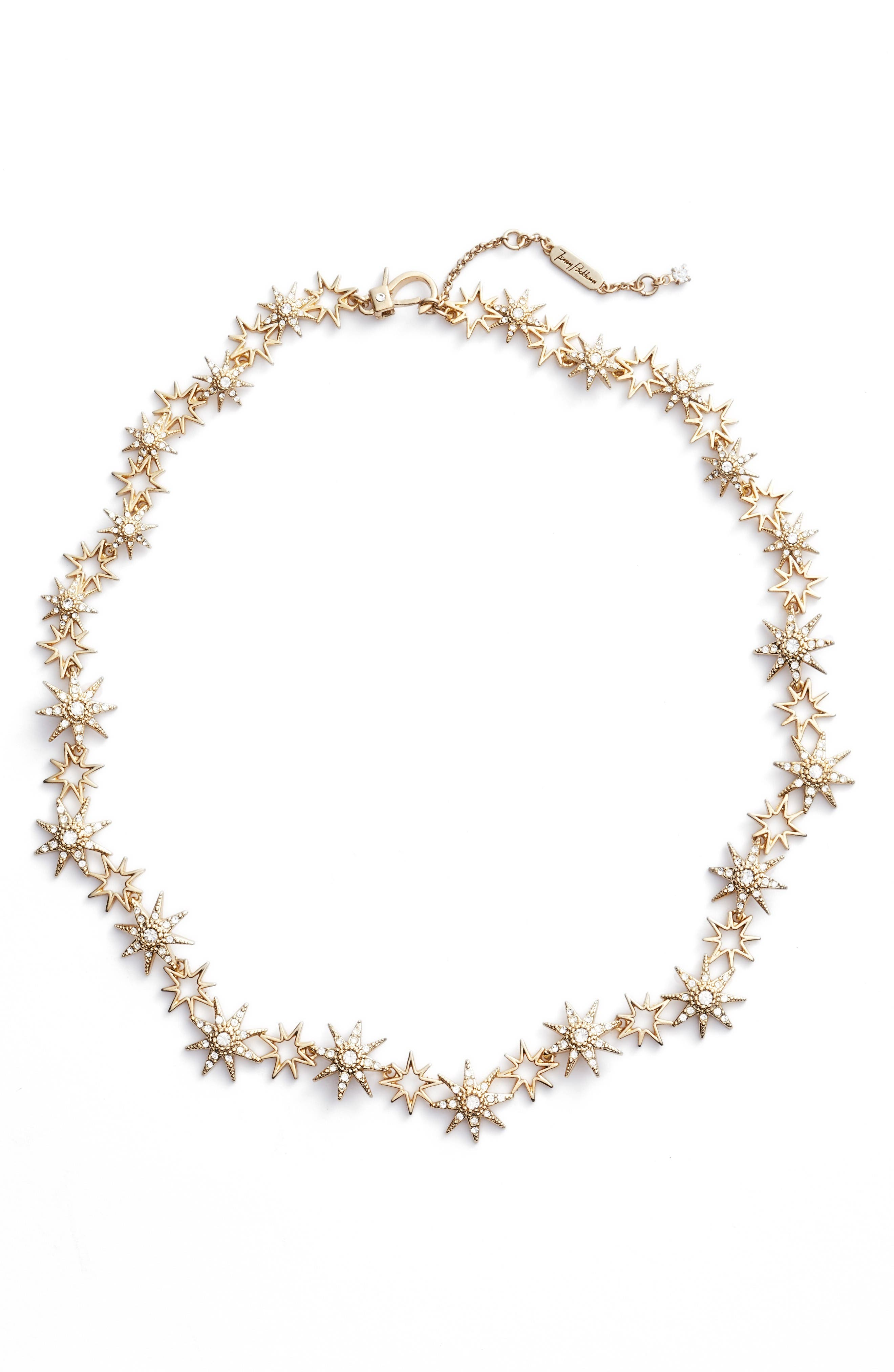 Star Collar Necklace,                         Main,                         color, Gold