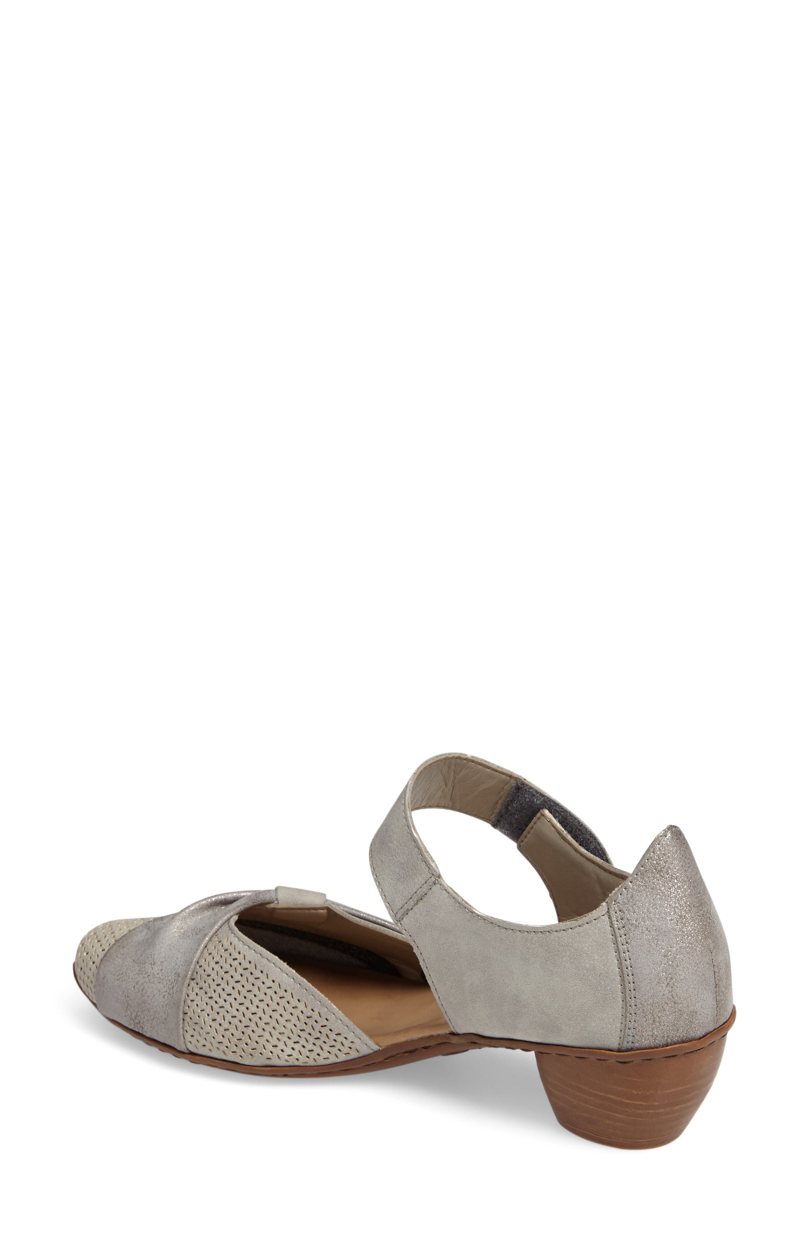 Mirjam 21 Two-Piece Pump,                             Alternate thumbnail 2, color,                             Grey Fabric
