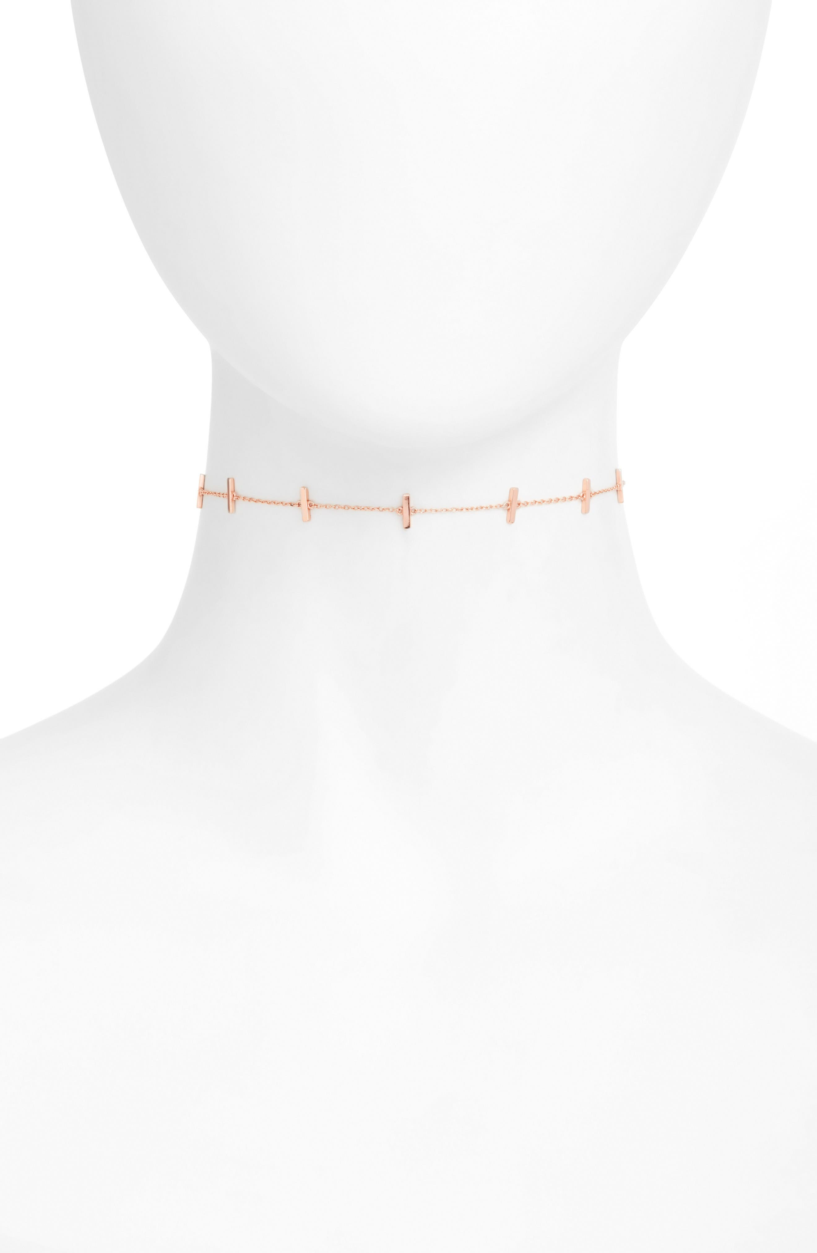 Argento Vivo Bar Station Chain Choker