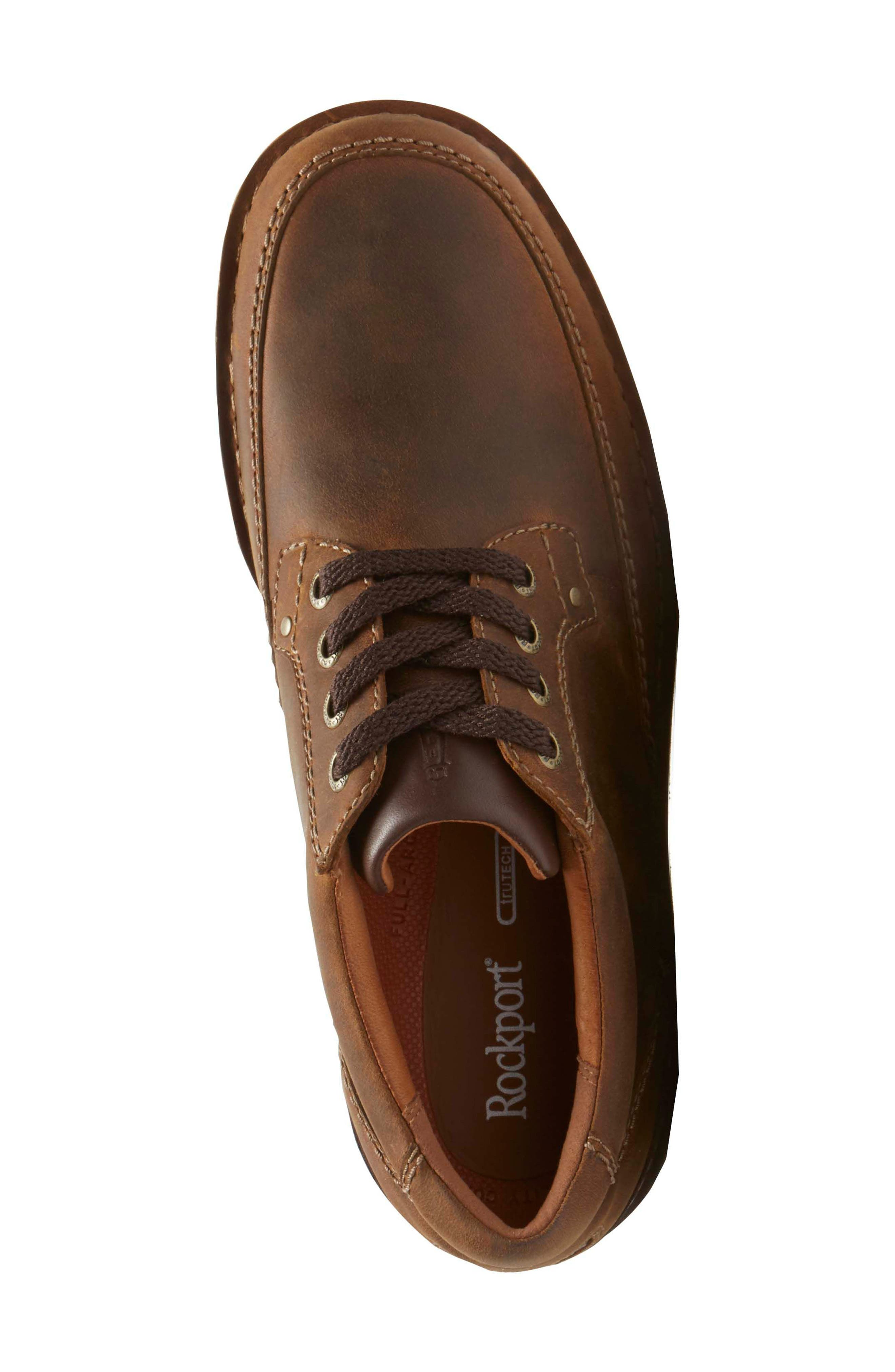 Prestige Point Mudguard Oxford,                             Alternate thumbnail 4, color,                             Beeswax Leather