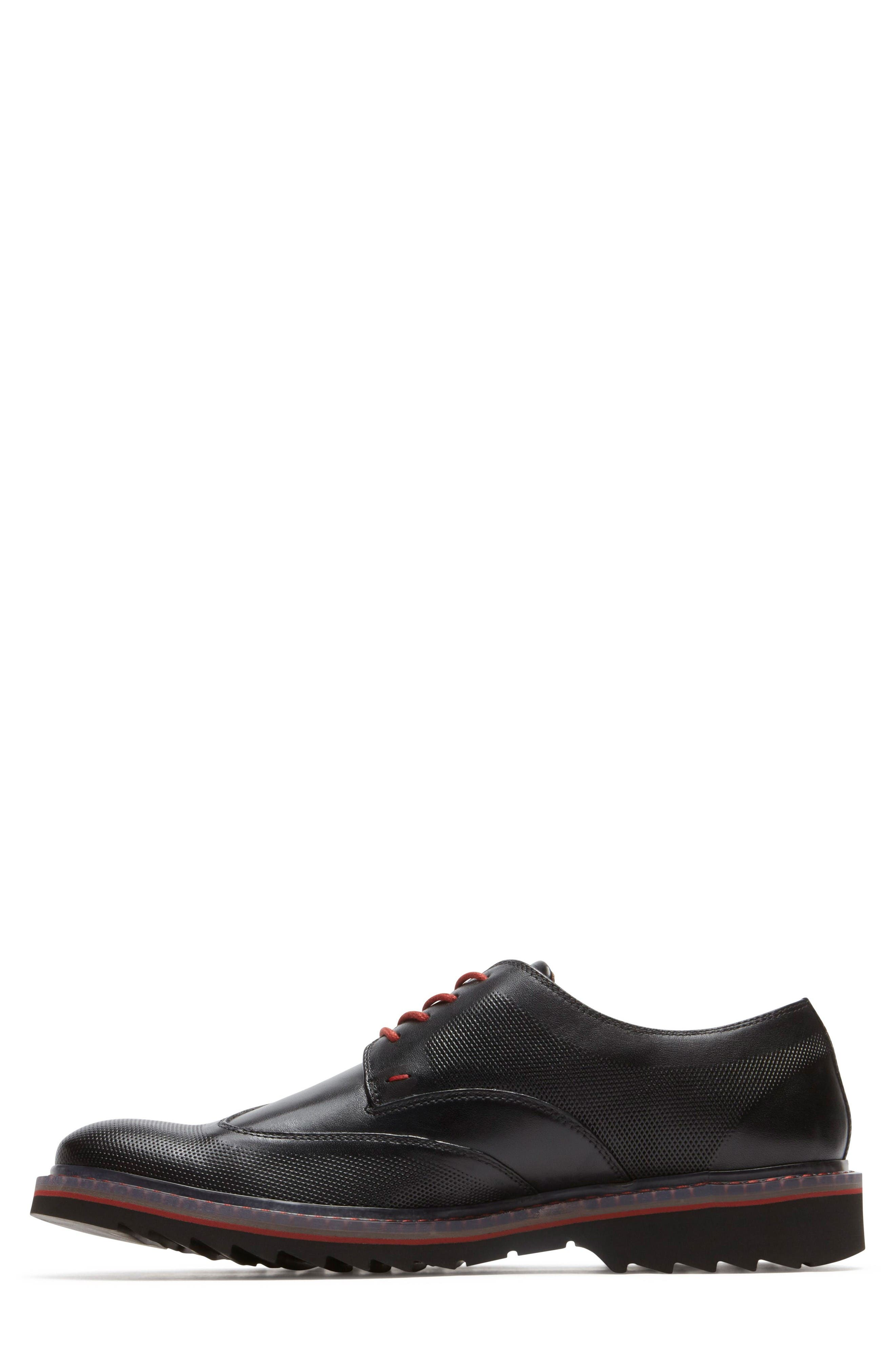 Jaxson Wingtip,                             Alternate thumbnail 2, color,                             Black Leather