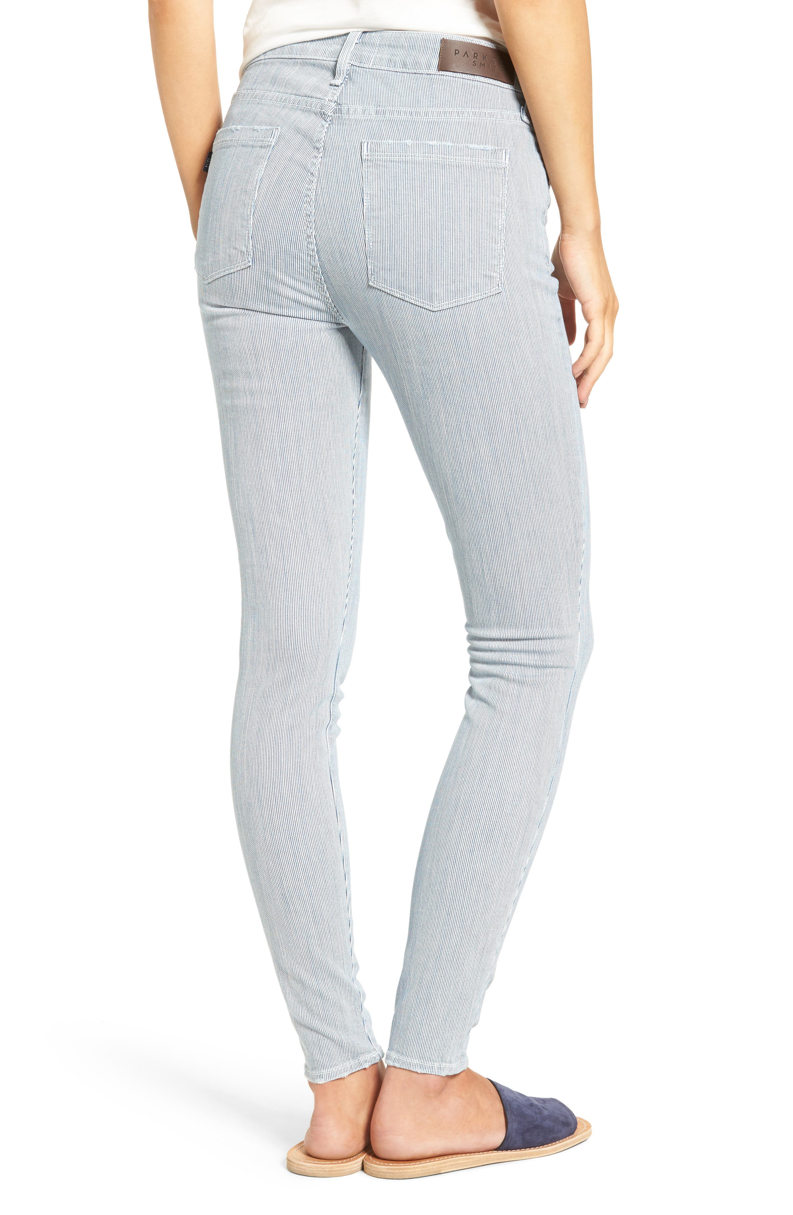 Alternate Image 2  - PARKER SMITH Ava Railroad Stripe Skinny Jeans (Engineer)