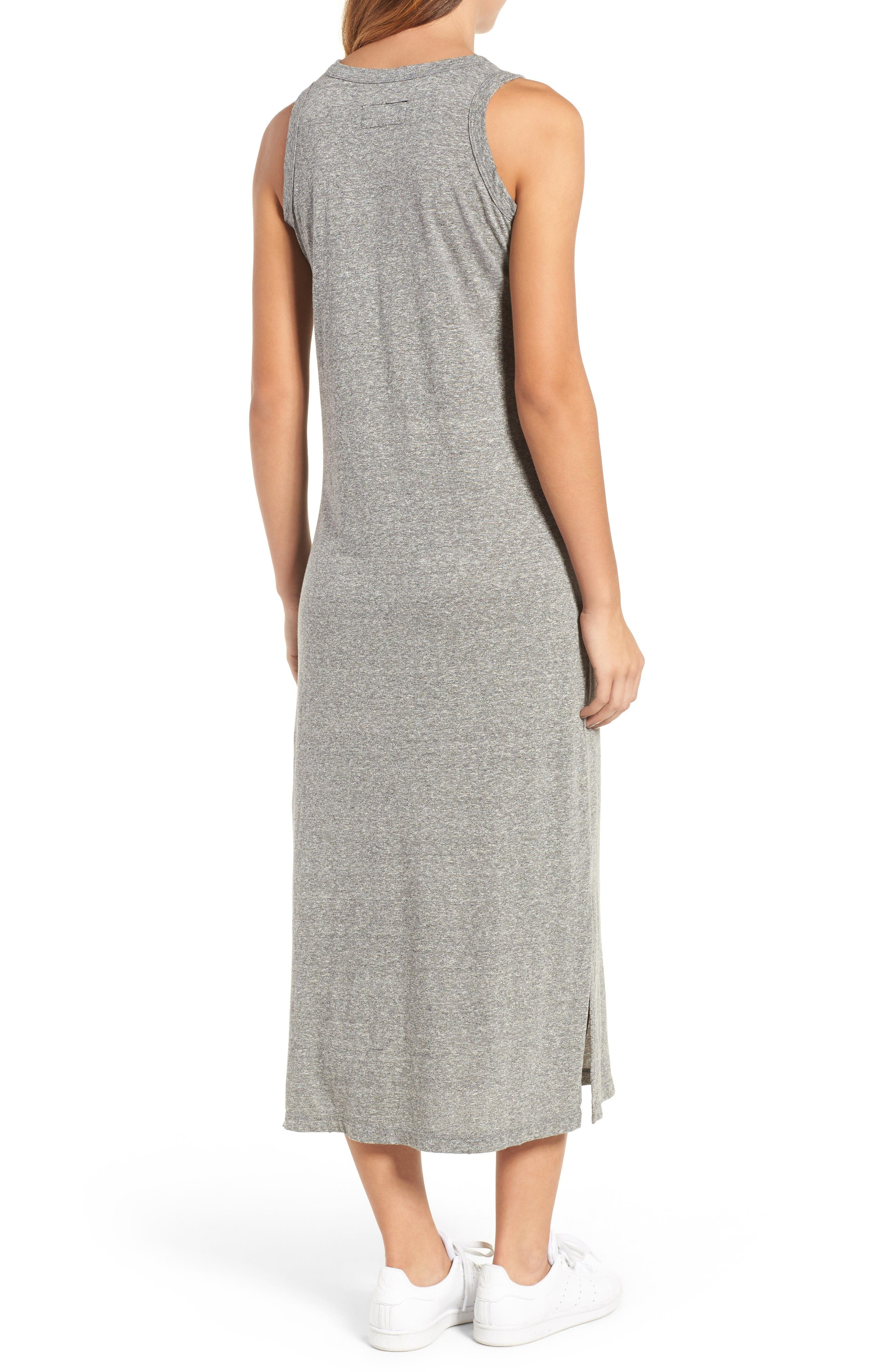 The Perfect Muscle Tee Dress,                             Alternate thumbnail 2, color,                             Heather Grey