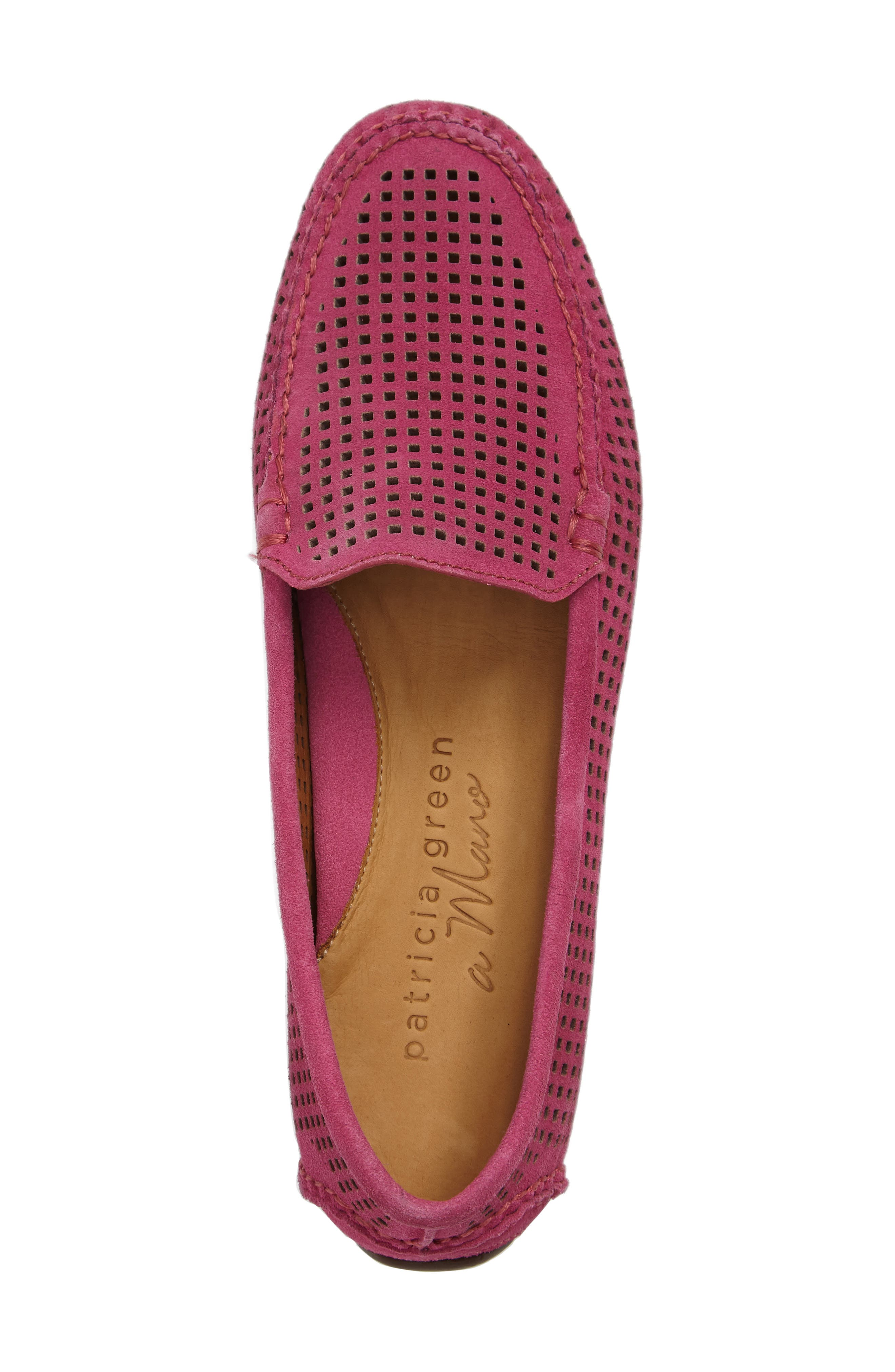 'Barrie' Flat,                             Alternate thumbnail 5, color,                             Hot Pink Suede
