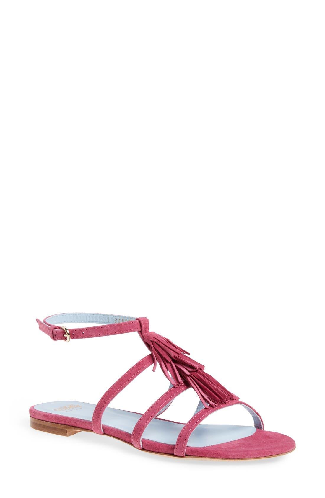 Frances Valentine Mia Tassel Ankle Strap Sandal (Women)
