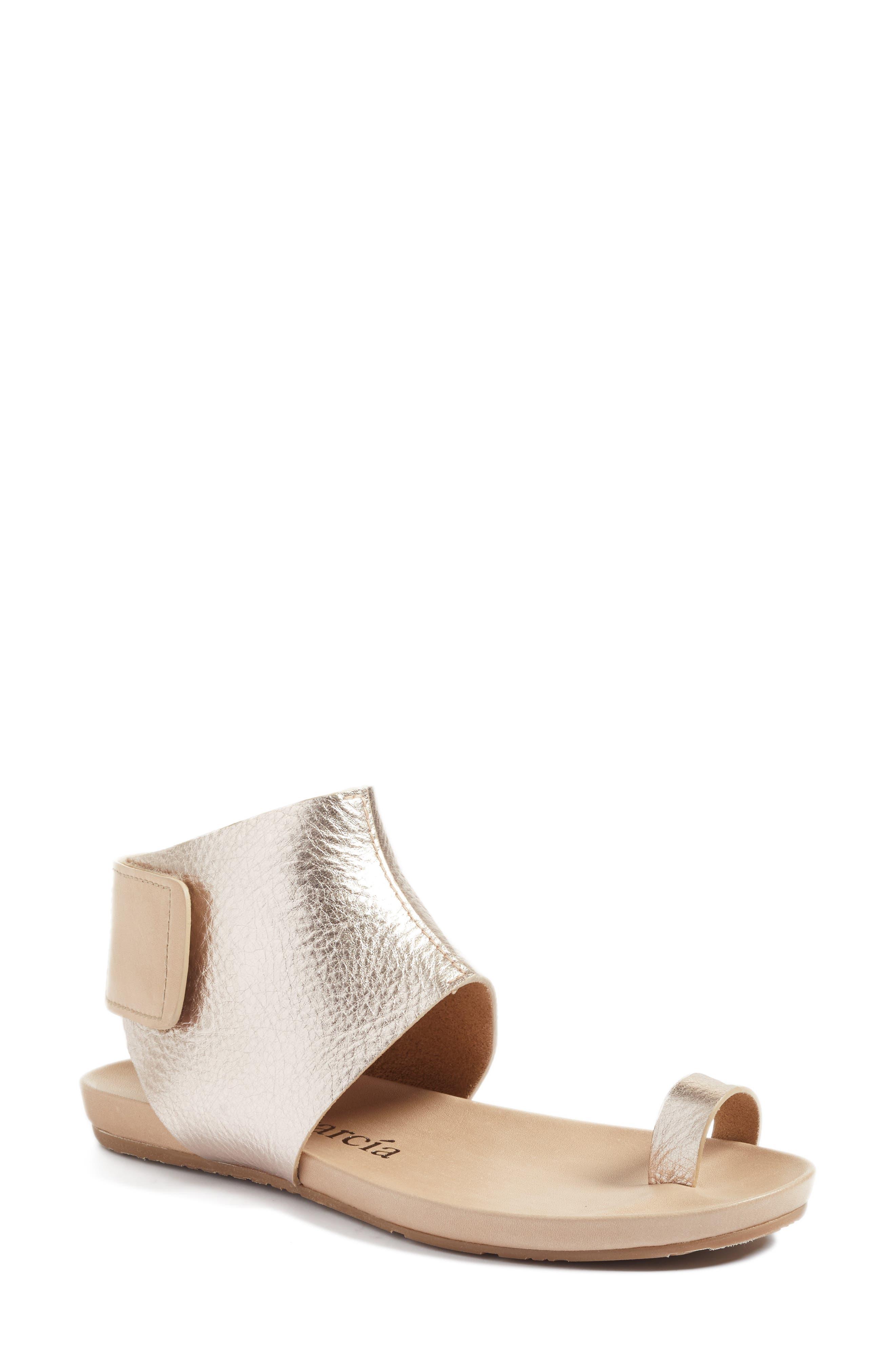 Pedro Garcia Metallic Ankle Cuff Sandal (Women)