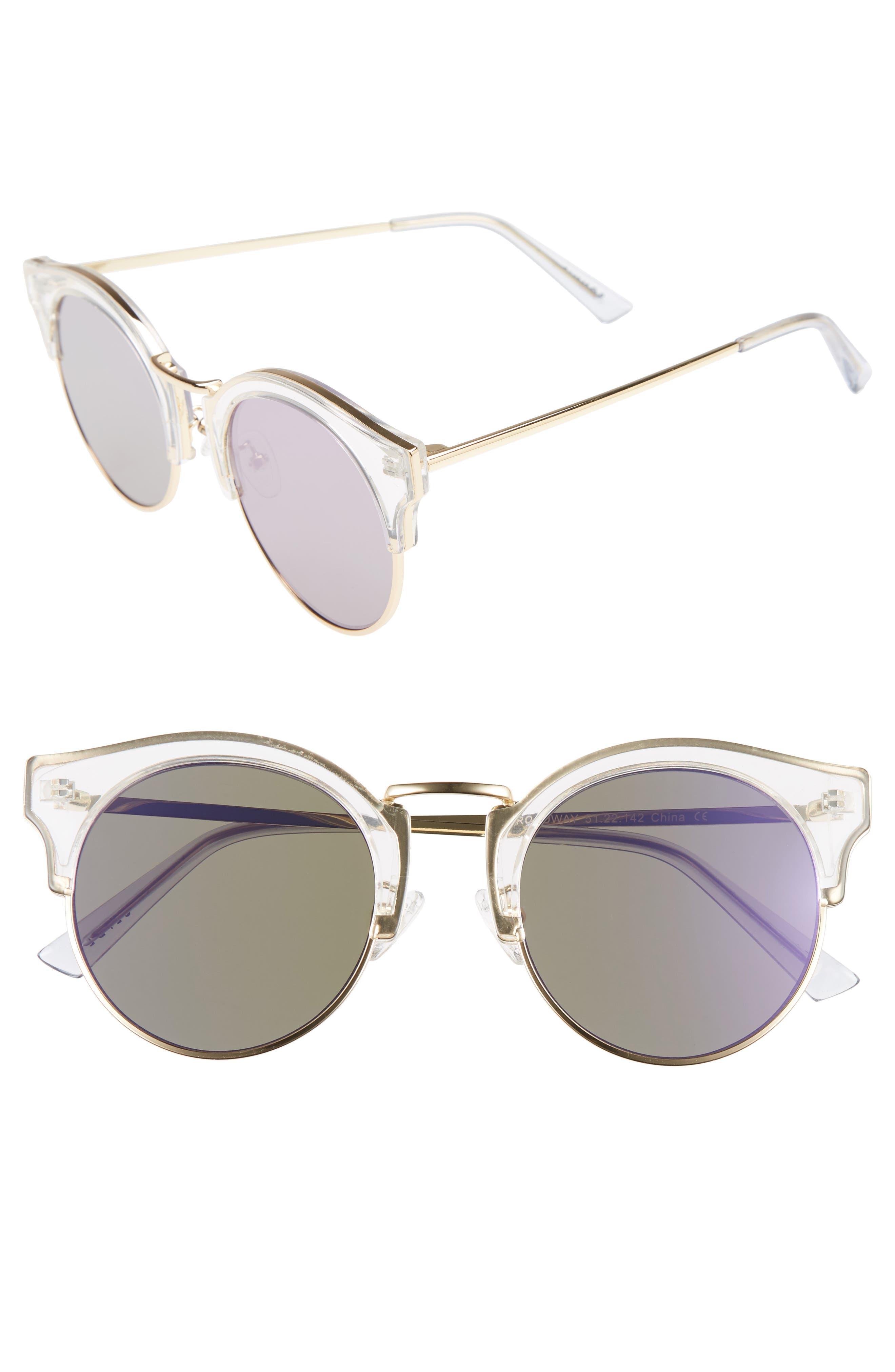 Broadway 51mm Retro Sunglasses,                         Main,                         color, Lavender