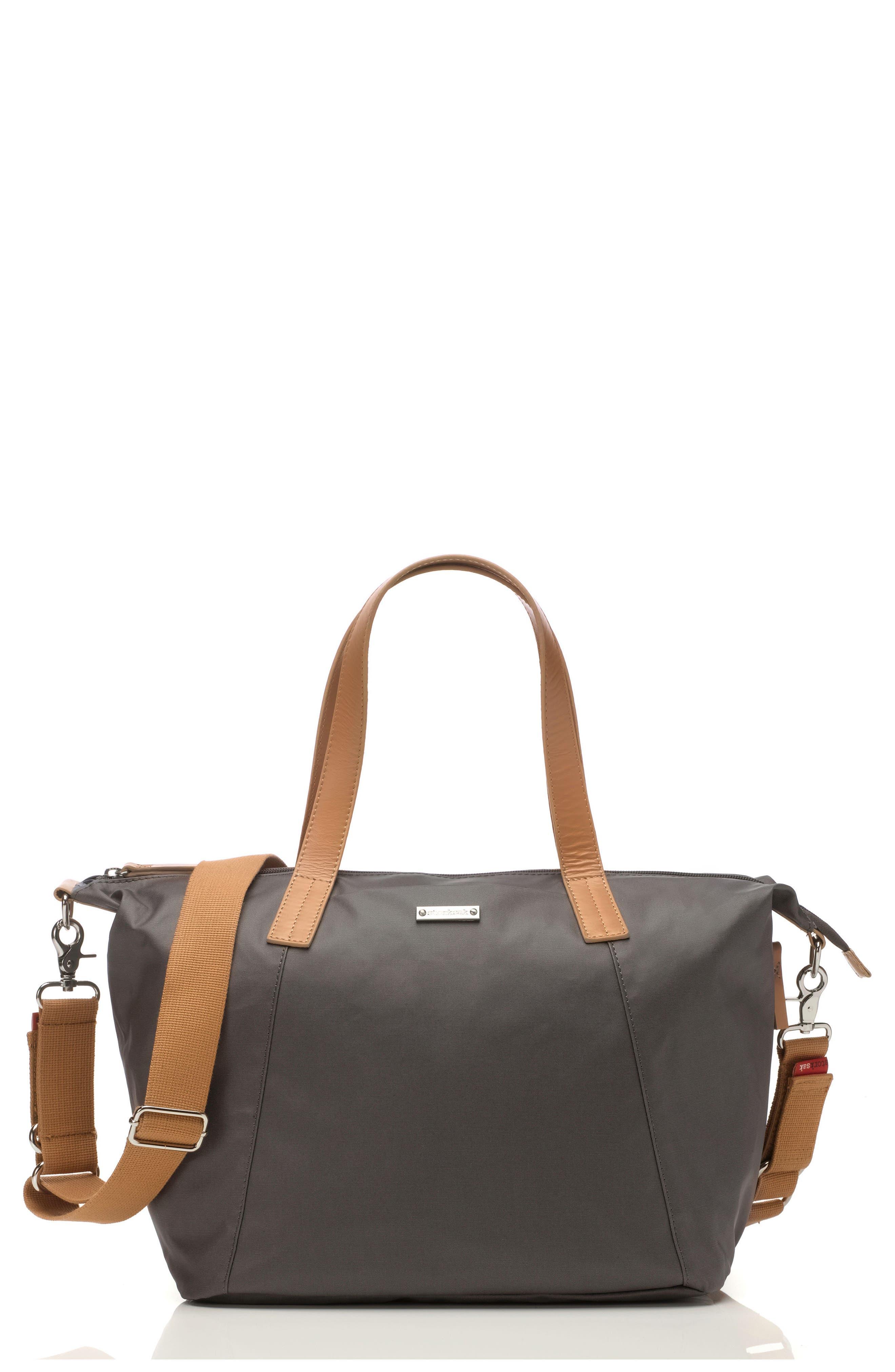 Noa Diaper Bag,                         Main,                         color, Grey