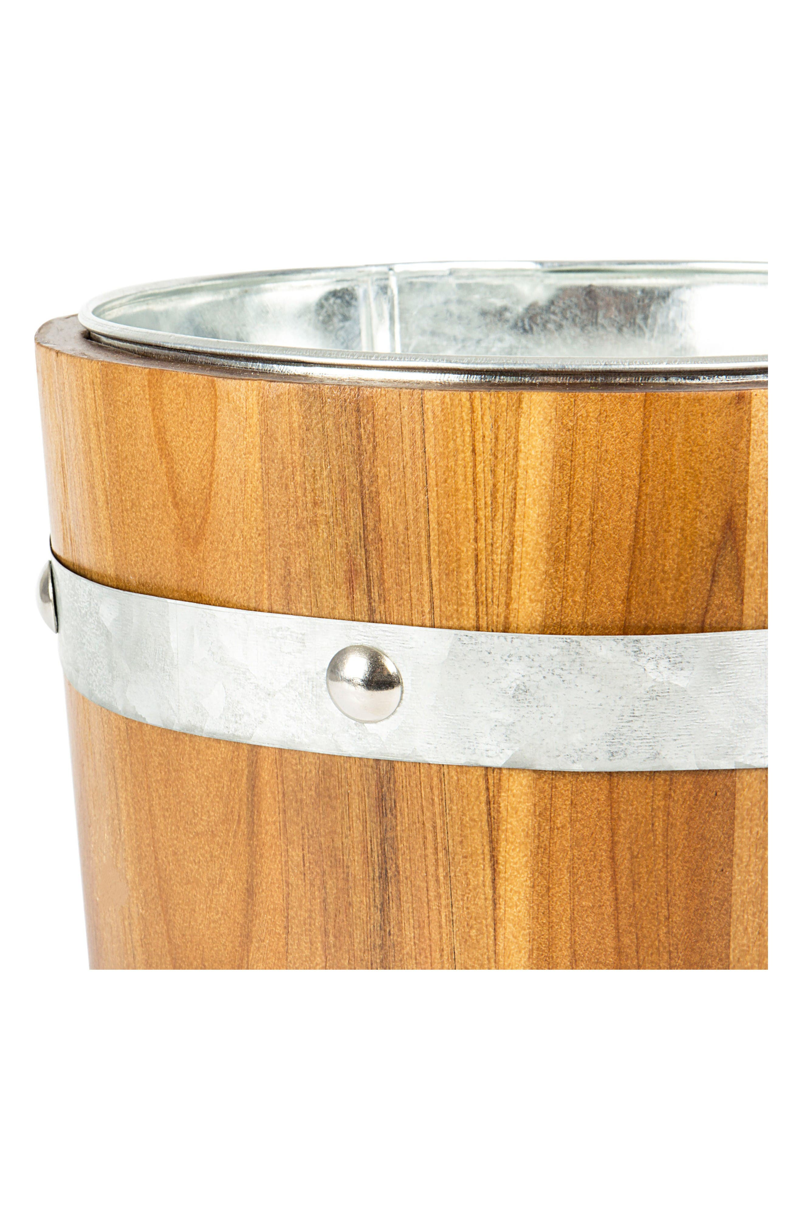 Rustic Anchor Ice Bucket,                             Alternate thumbnail 3, color,                             Brown