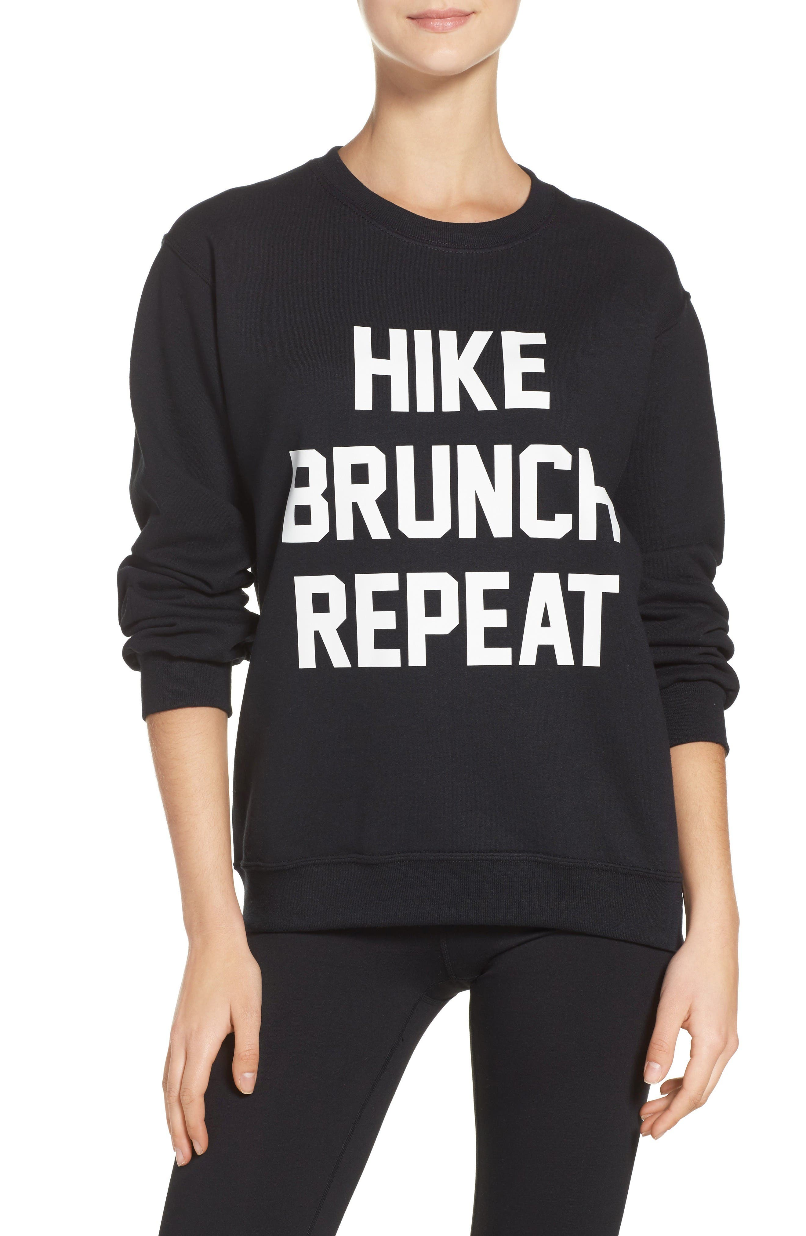 Private Party Hike Brunch Repeat Sweatshirt