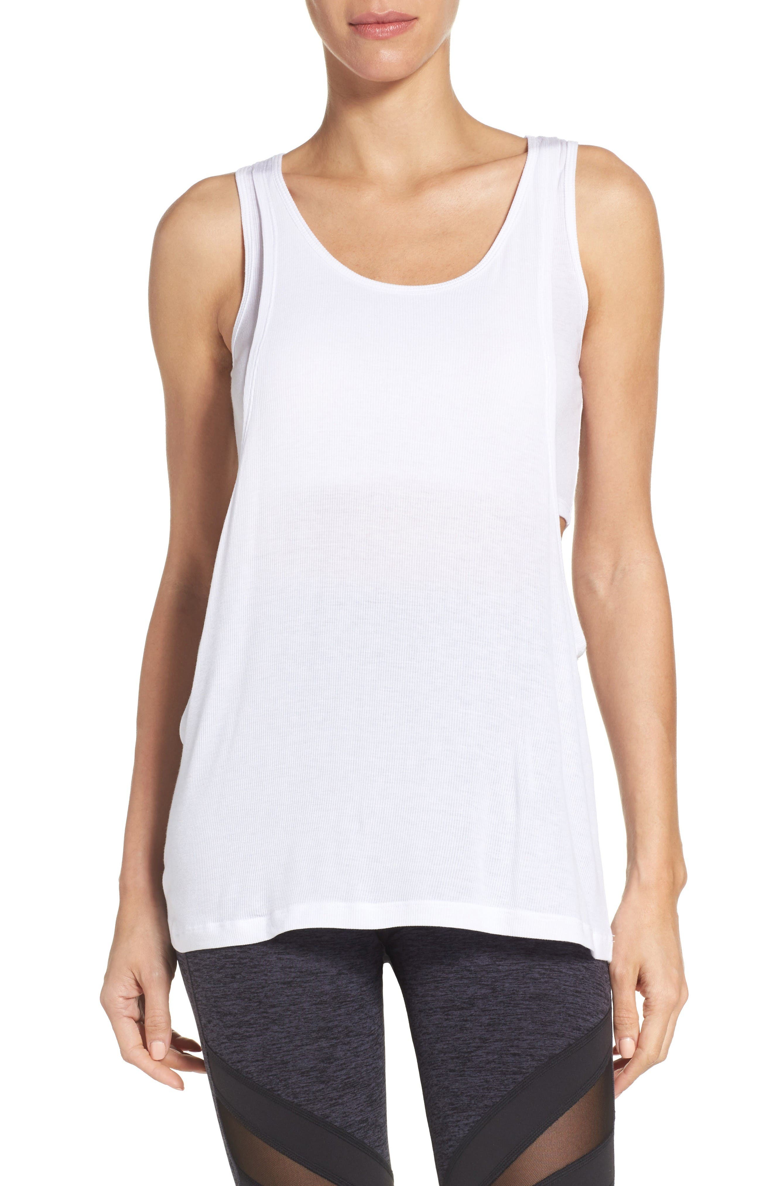 BEYOND YOGA On & Off Ribbed Double LayerTank
