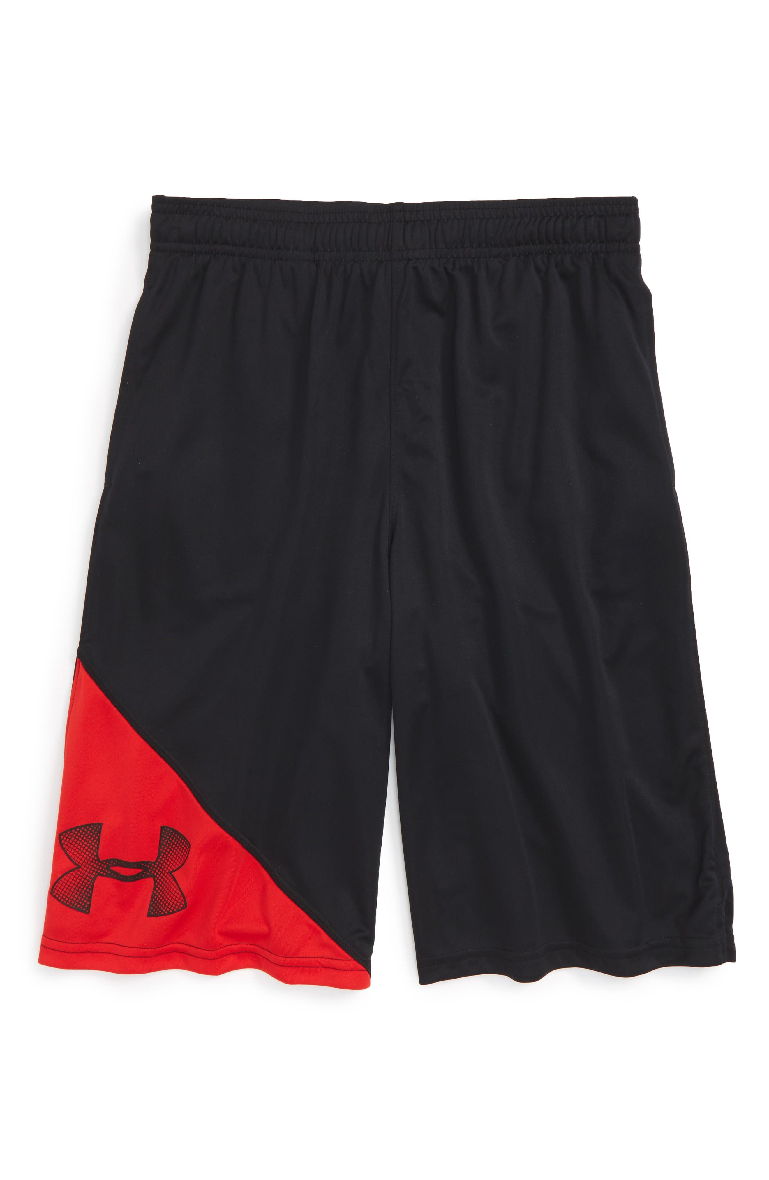 'Tech<sup>™</sup>' Athletic Shorts,                         Main,                         color, Black/ Red