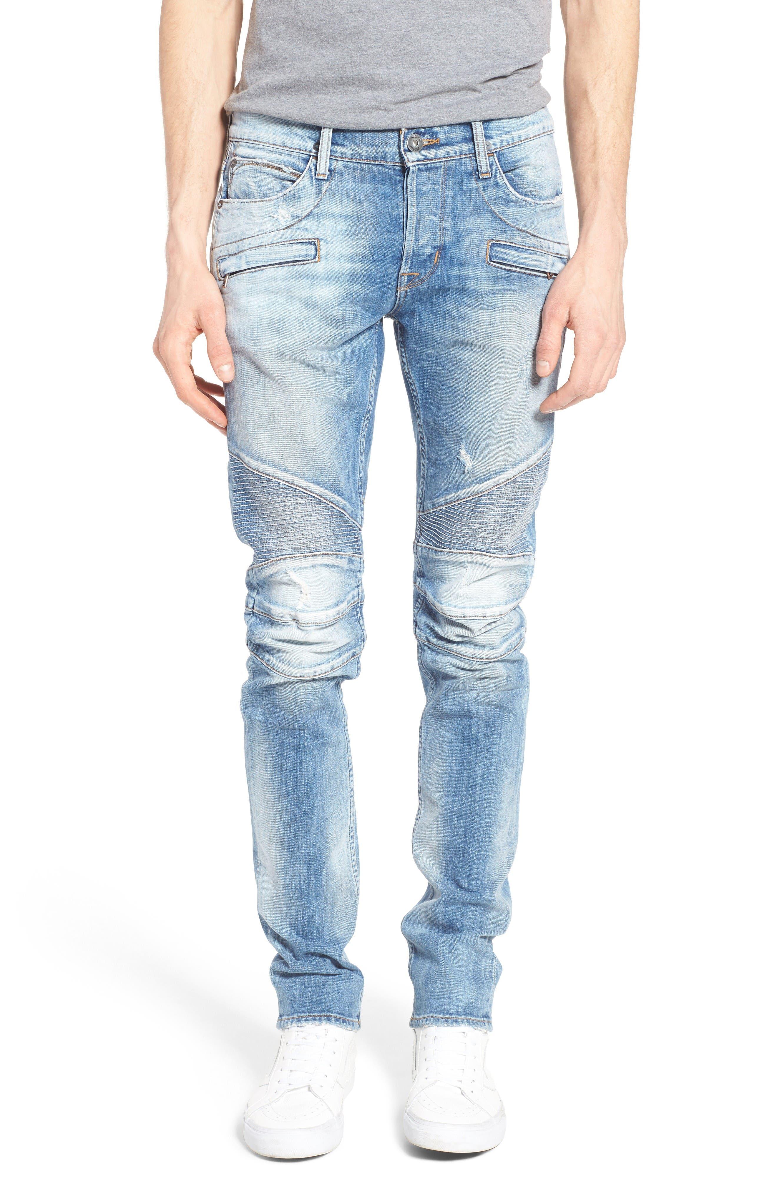Alternate Image 1 Selected - Hudson Jeans Blinder Skinny Fit Moto Jeans (Thrash)