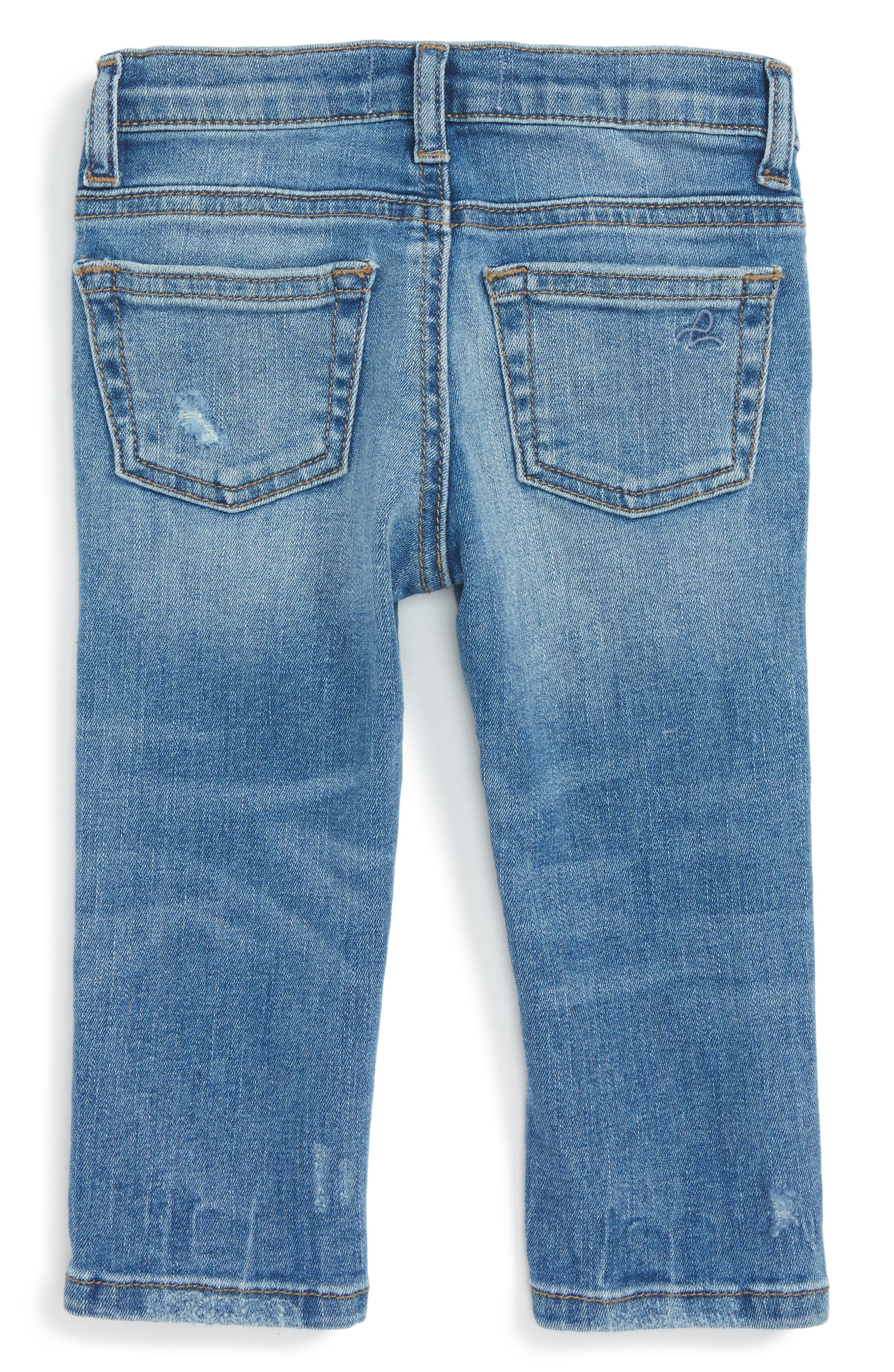 Alternate Image 2  - DL1961 Sophie Slim Fit Jeans (Baby Girls)