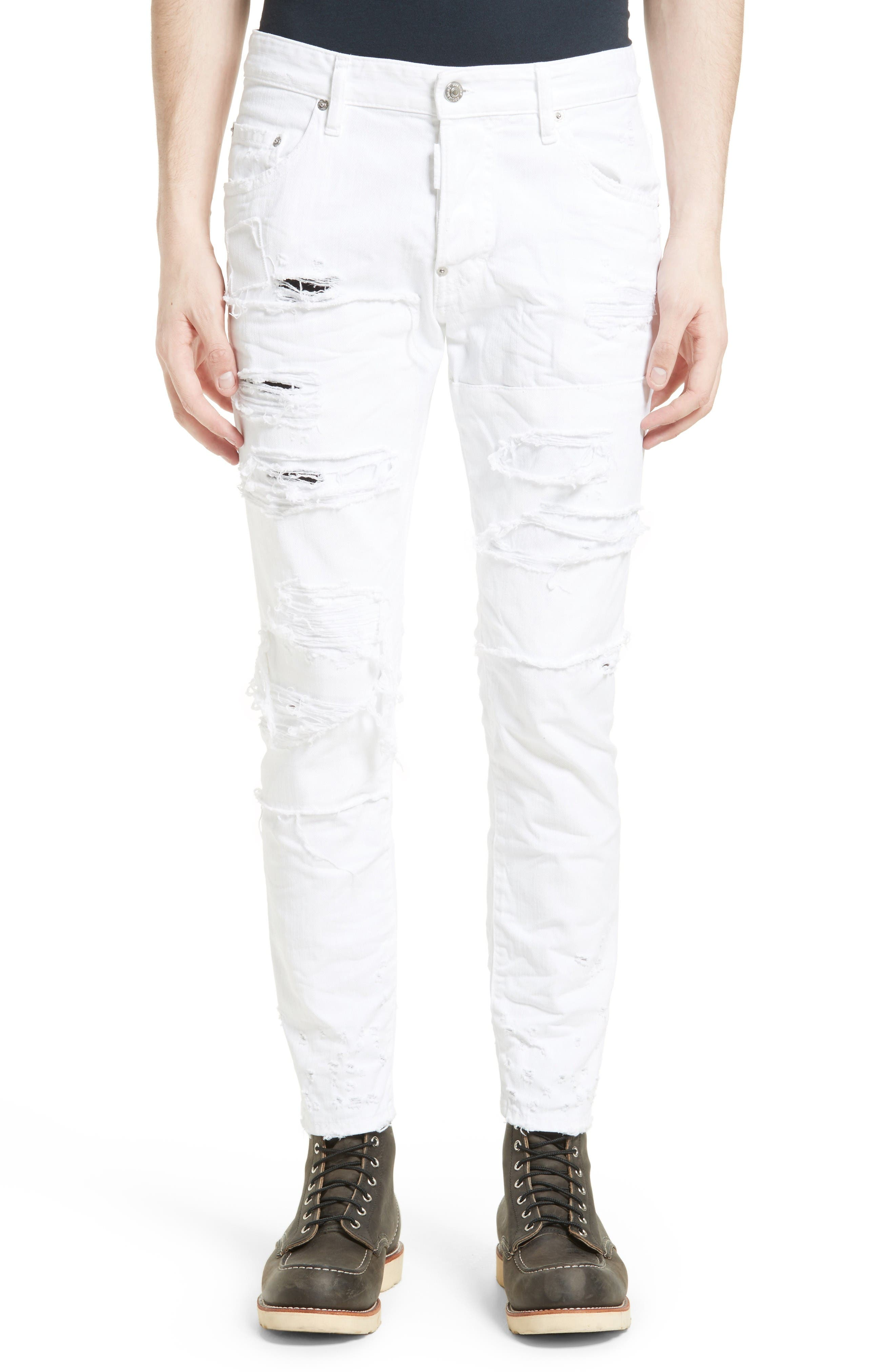 Alternate Image 1 Selected - Dsquared2 Shredded Jeans