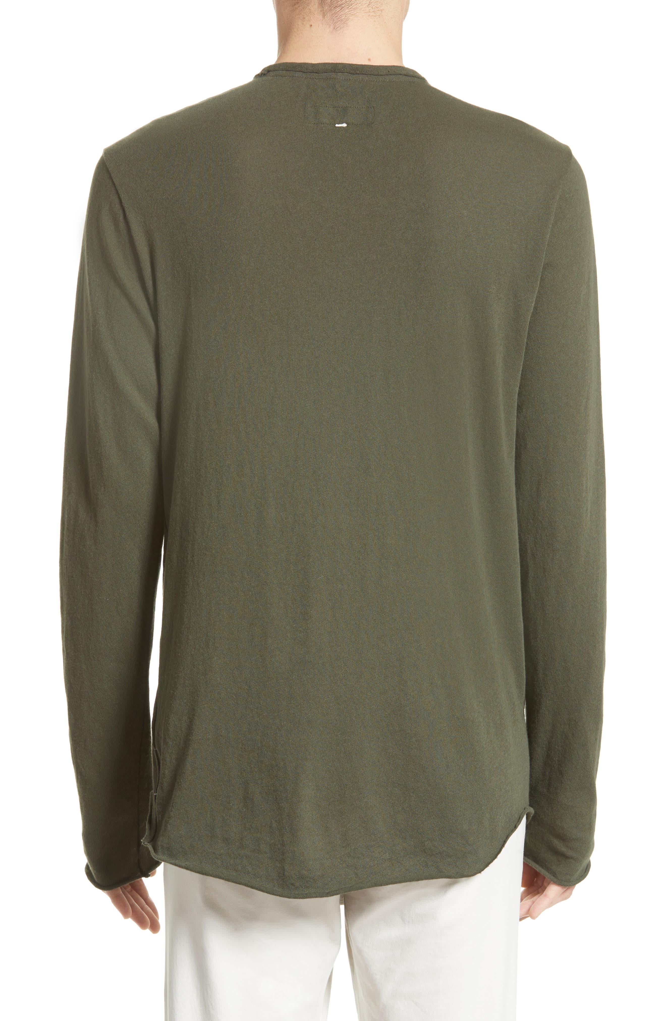 Hartley Cotton & Linen T-Shirt,                             Alternate thumbnail 2, color,                             Dark Olive