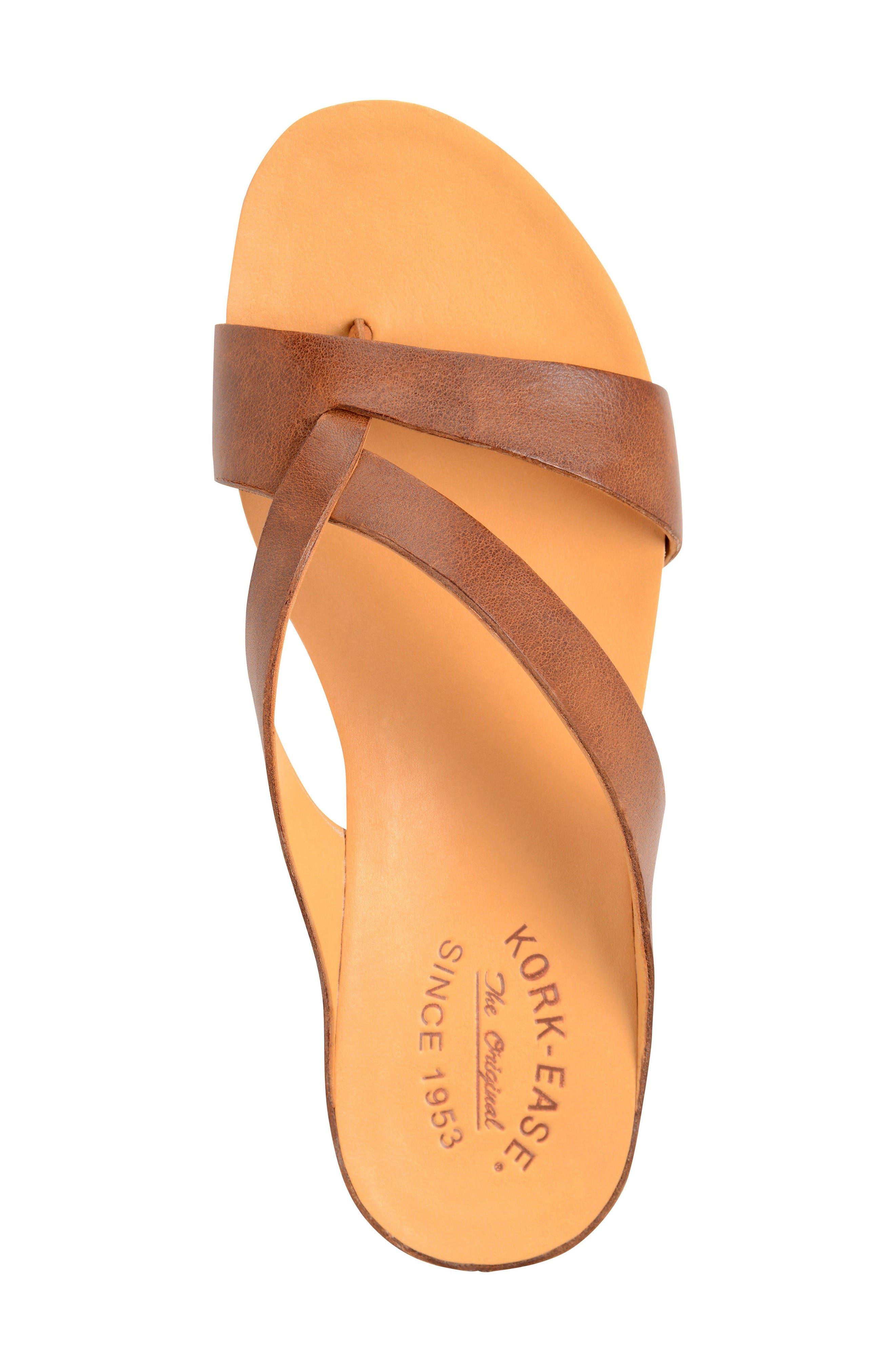 Devoe Sandal,                             Alternate thumbnail 3, color,                             Brown Leather
