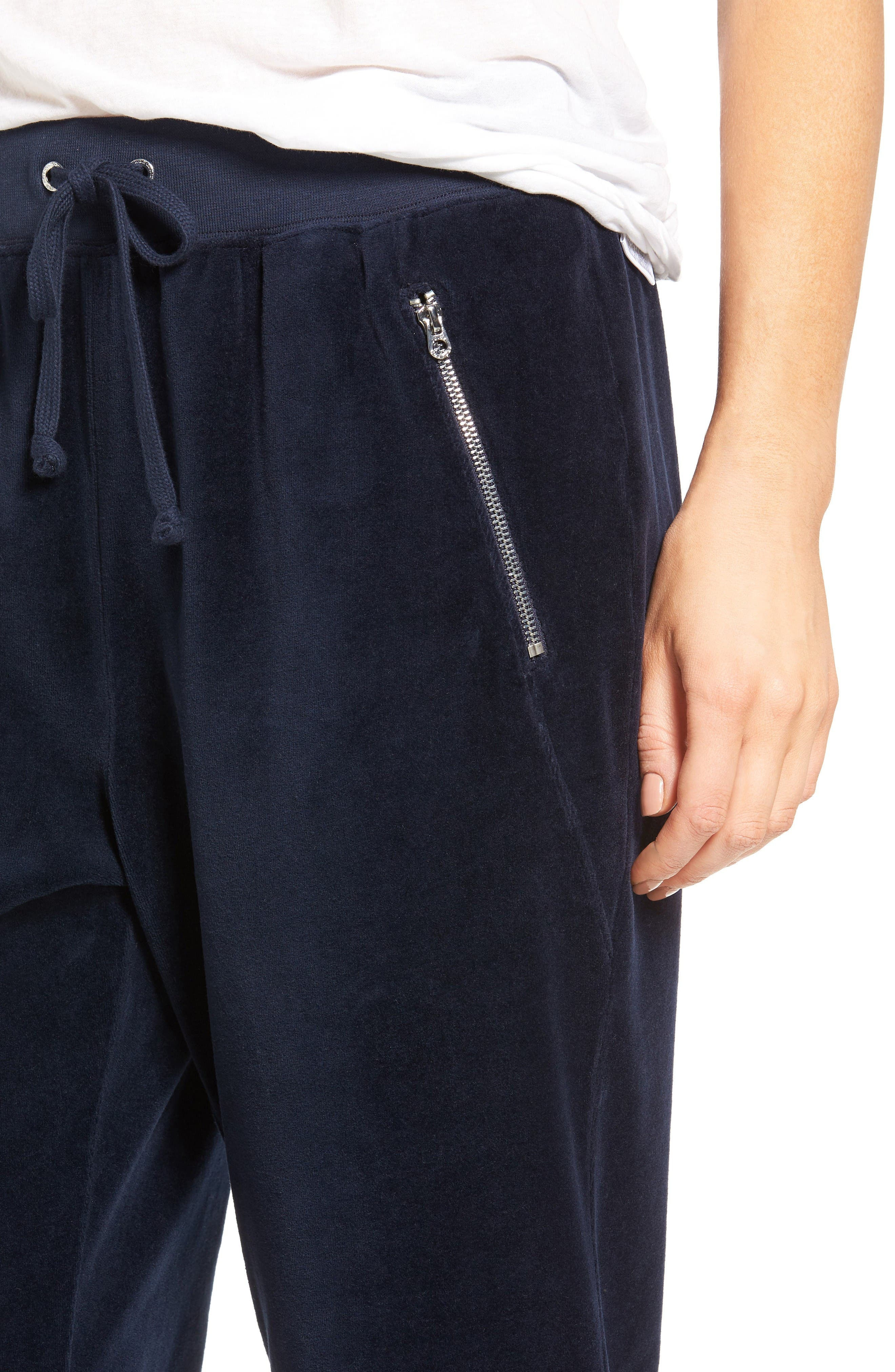 Alternate Image 4  - Juicy Couture Silverlake Velour Track Pants