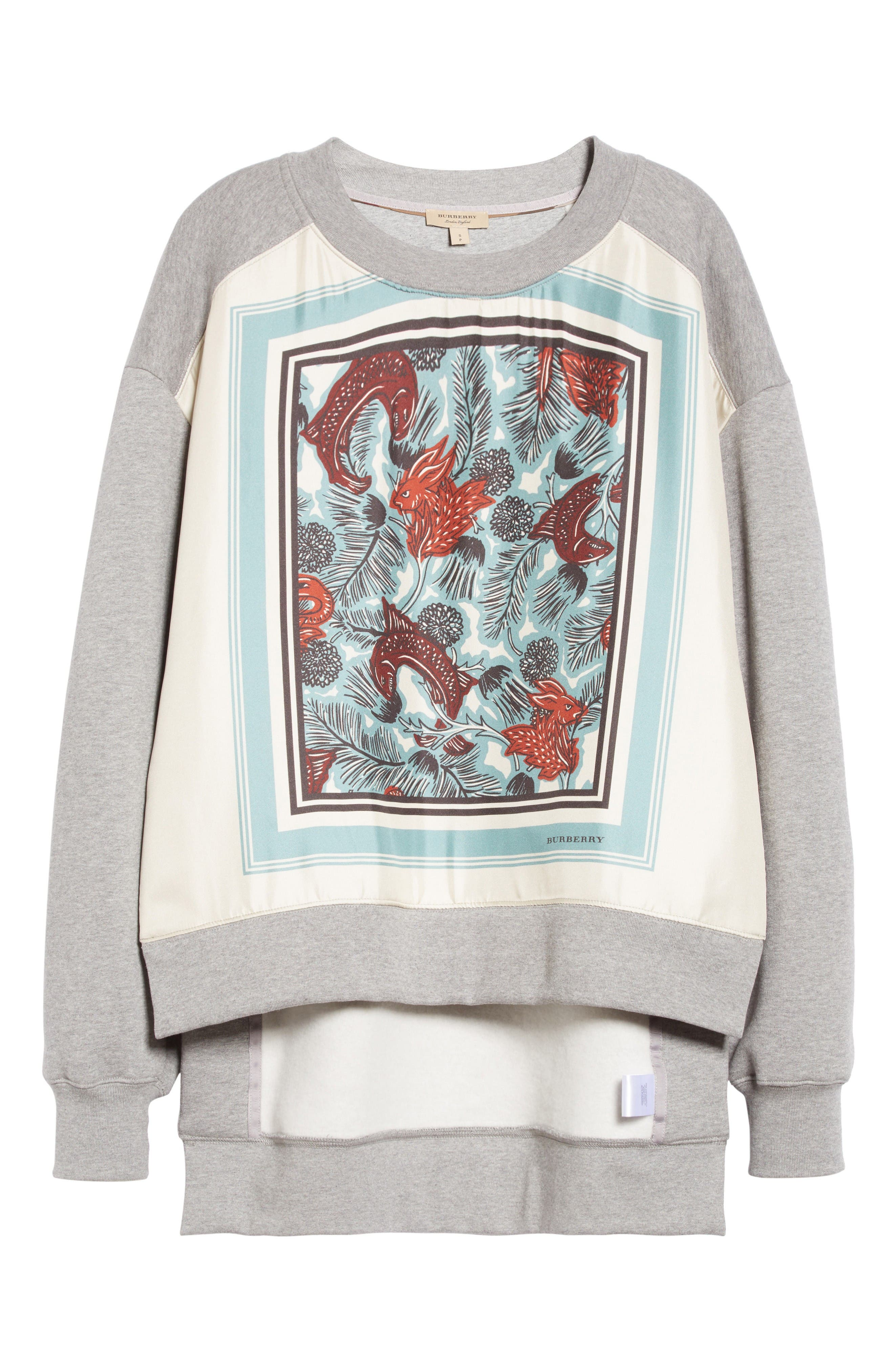 Alternate Image 4  - Burberry Mente Graphic High/Low Sweatshirt