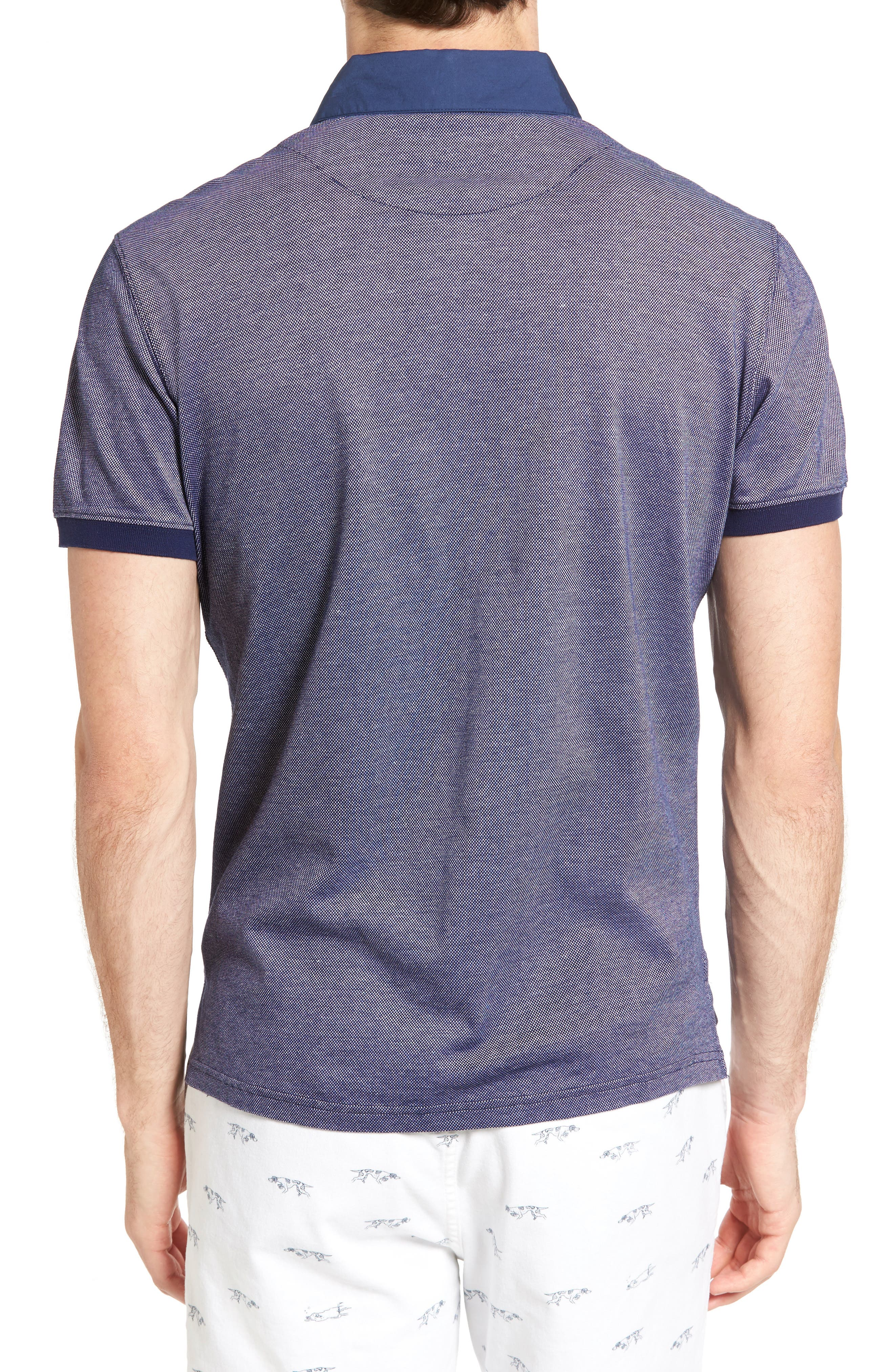 Fisher Parade Sports Fit Polo,                             Alternate thumbnail 2, color,                             Navy
