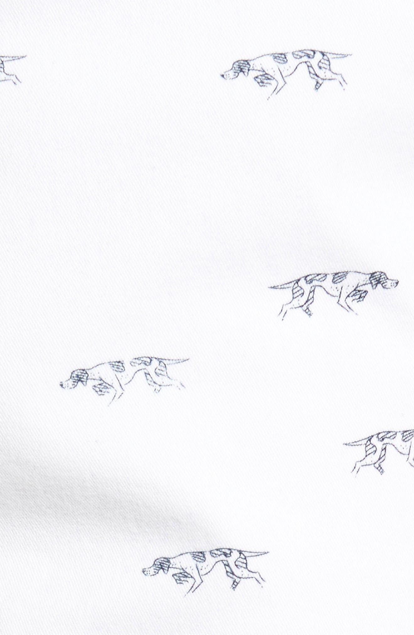 Lauriston Print Twill Shorts,                             Alternate thumbnail 5, color,                             Chalk