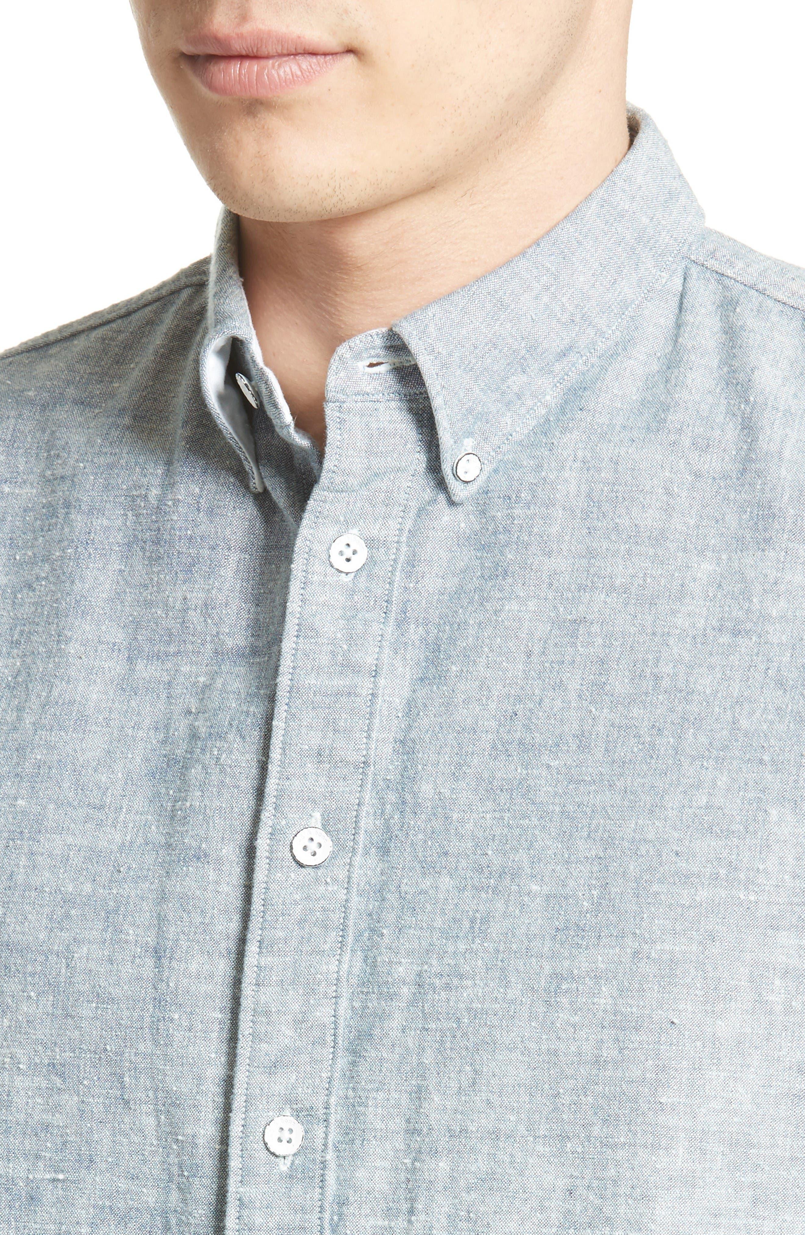 Alternate Image 4  - rag & bone Tomlin Cotton Sport Shirt