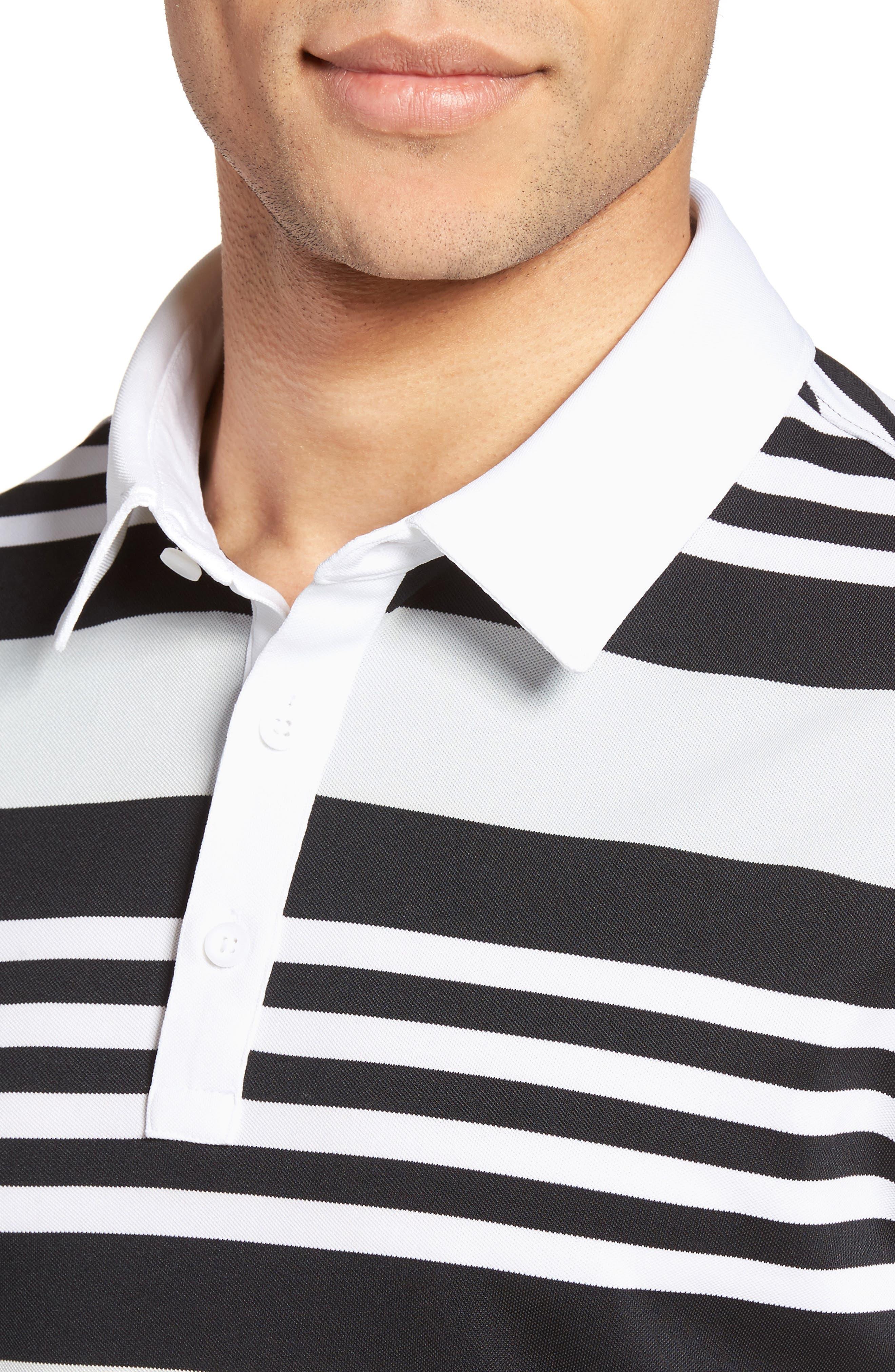 Alternate Image 4  - AG The Benson Stripe Piqué Polo