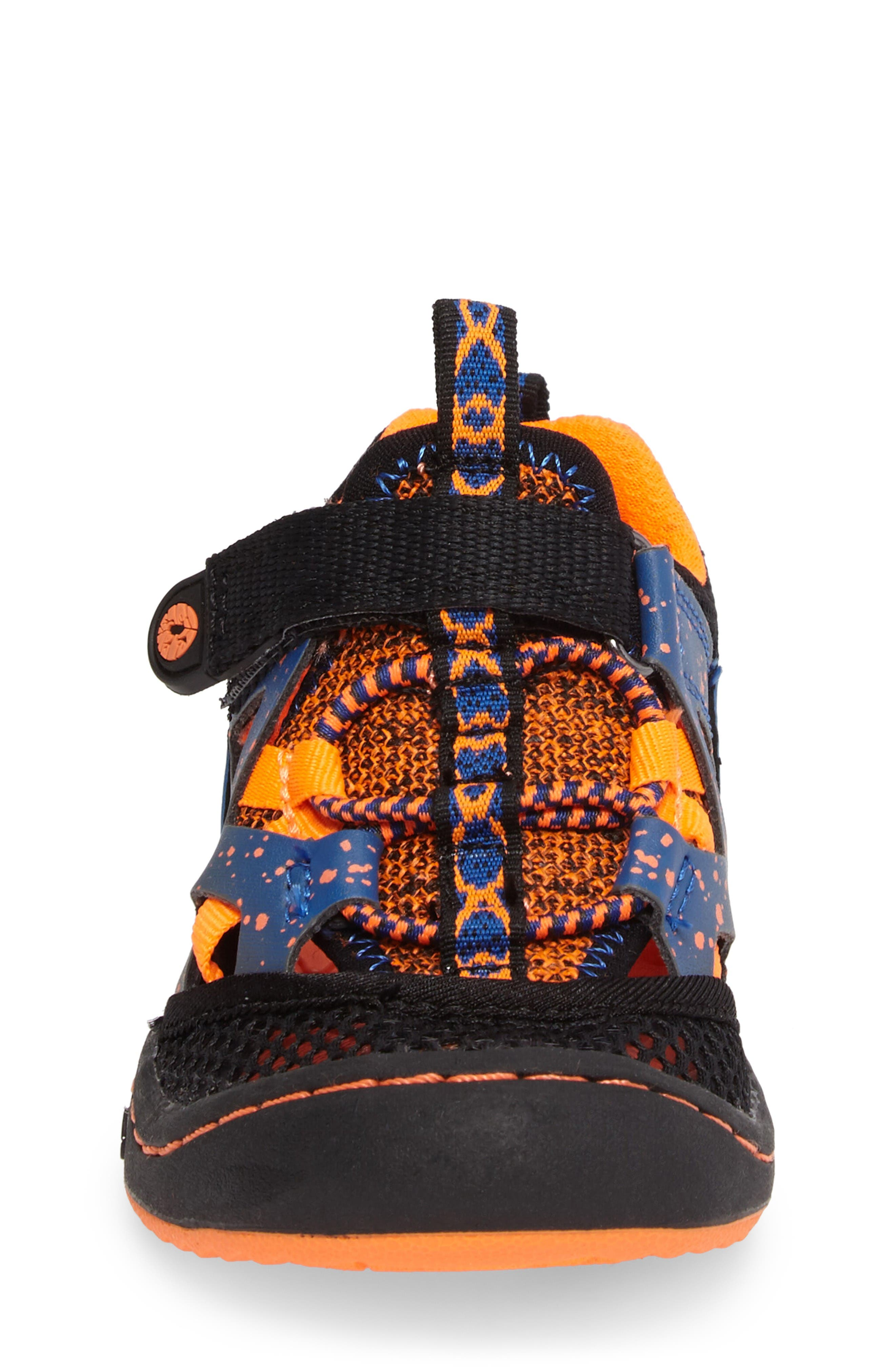 Squamata Sport Sneaker,                             Alternate thumbnail 4, color,                             Black/ Orange