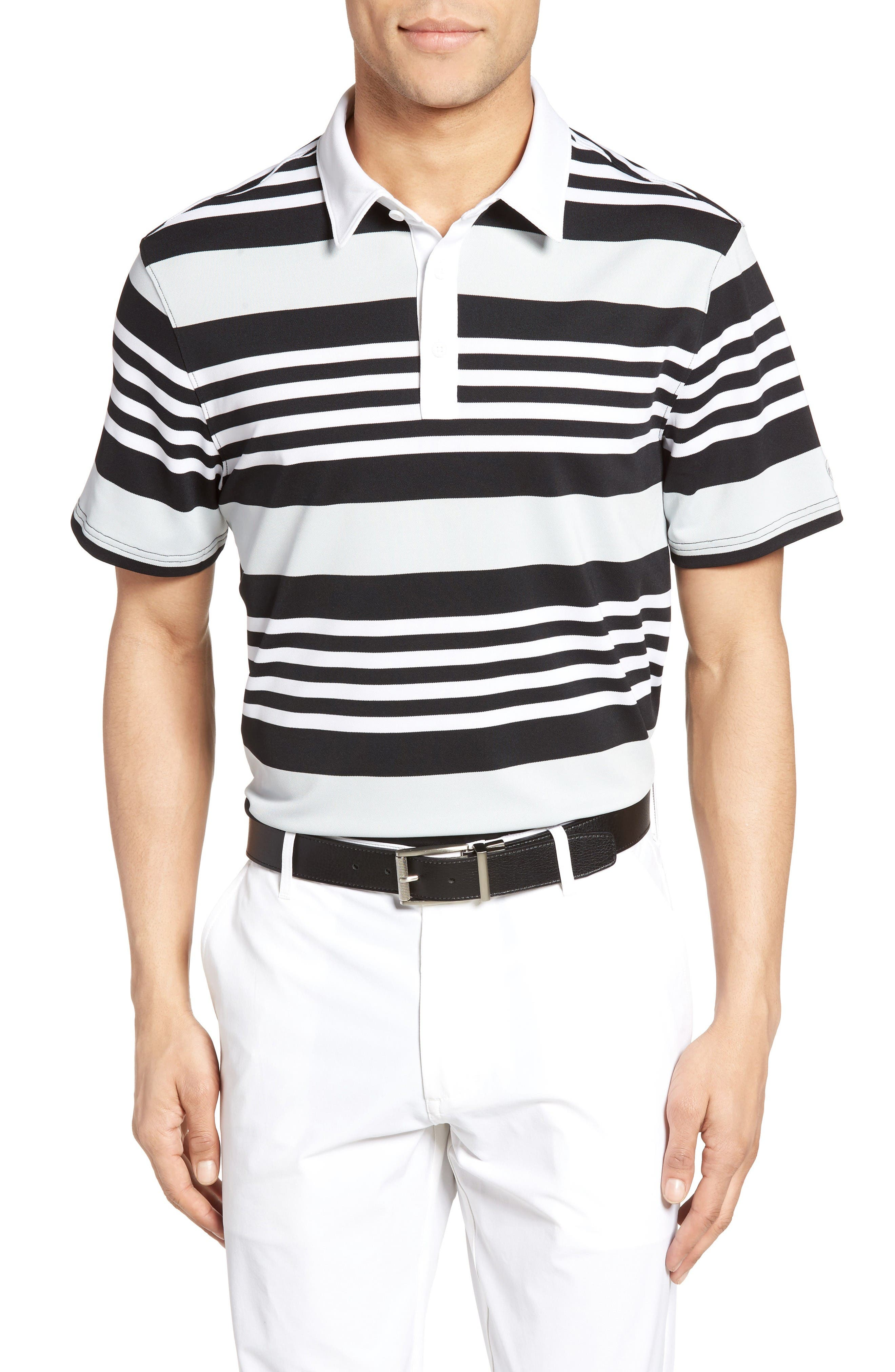 AG The Benson Stripe Piqué Polo