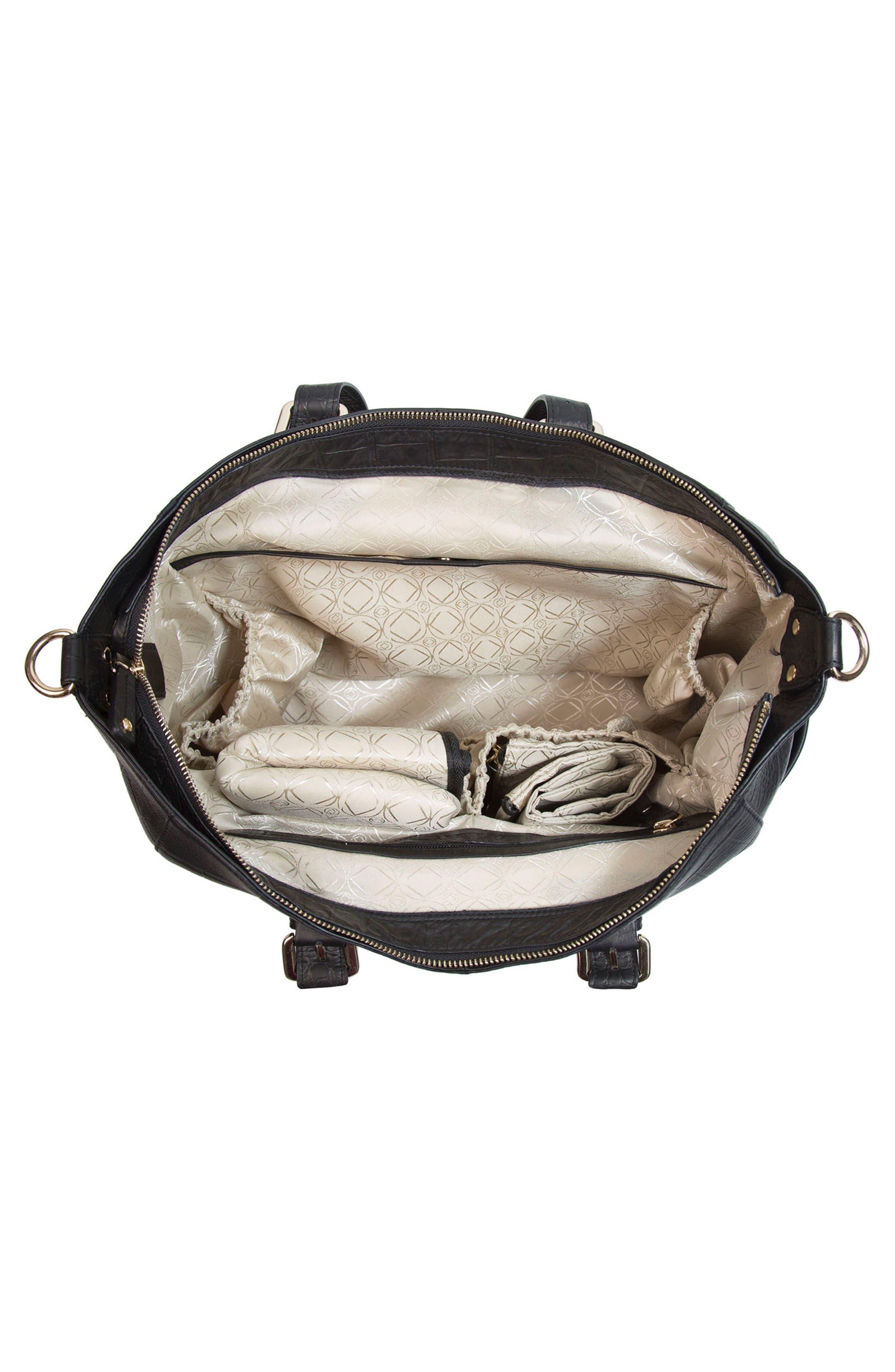 Alternate Image 3  - Kerikit Francis Croc Embossed Leather Diaper Bag