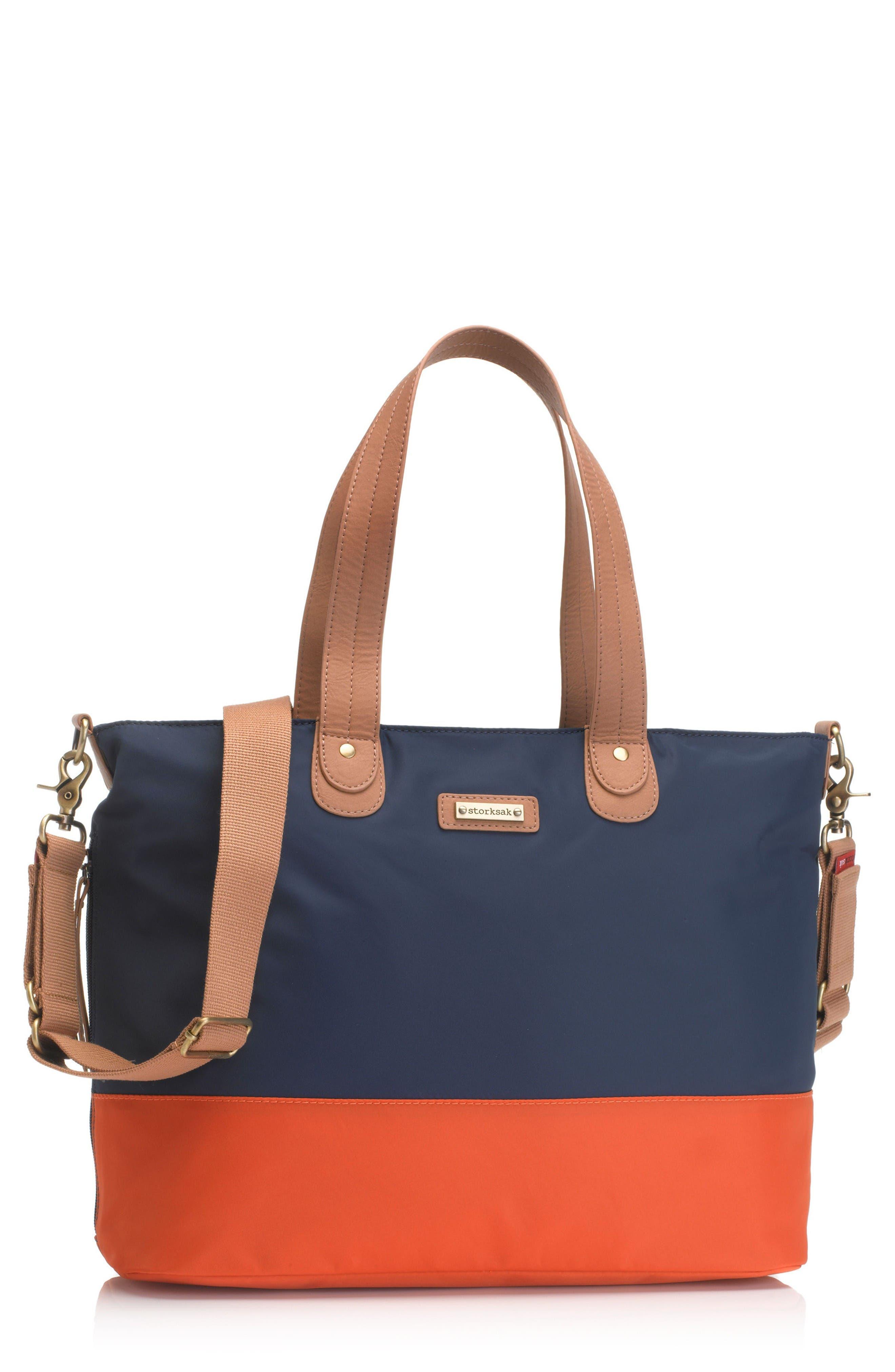 Main Image - Storksak Colorblock Diaper Bag