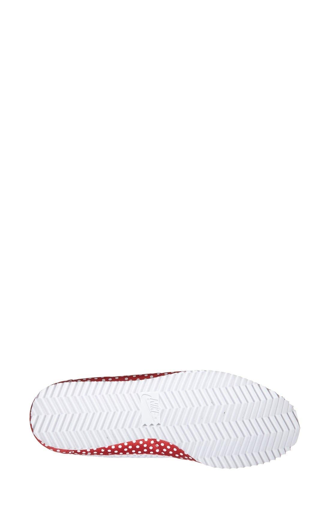 Alternate Image 4  - Nike 'Cortez - Polka Dot Print' Sneaker (Women)