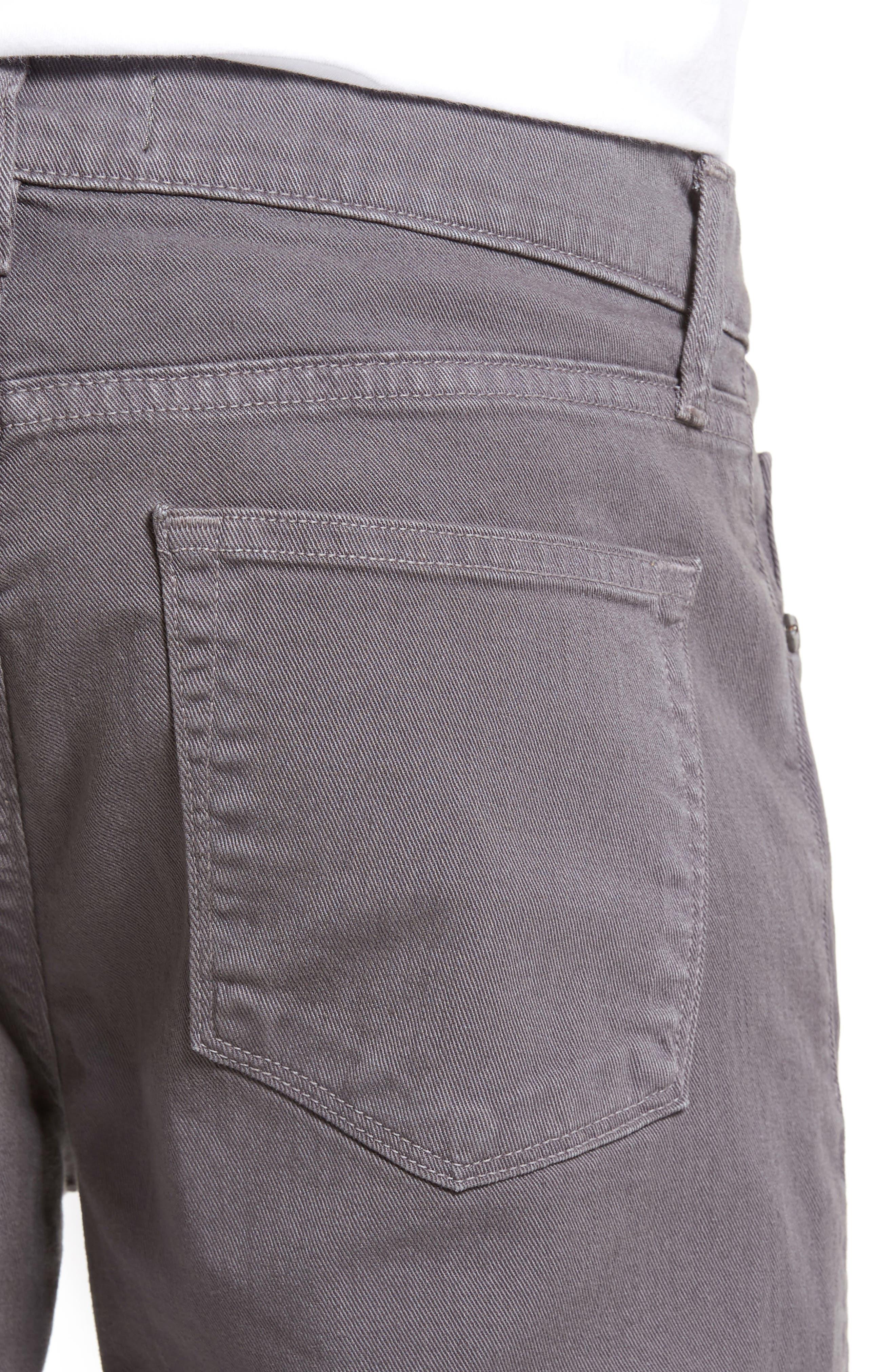 Tyler Slim Fit Jeans,                             Alternate thumbnail 4, color,                             Iron Gate
