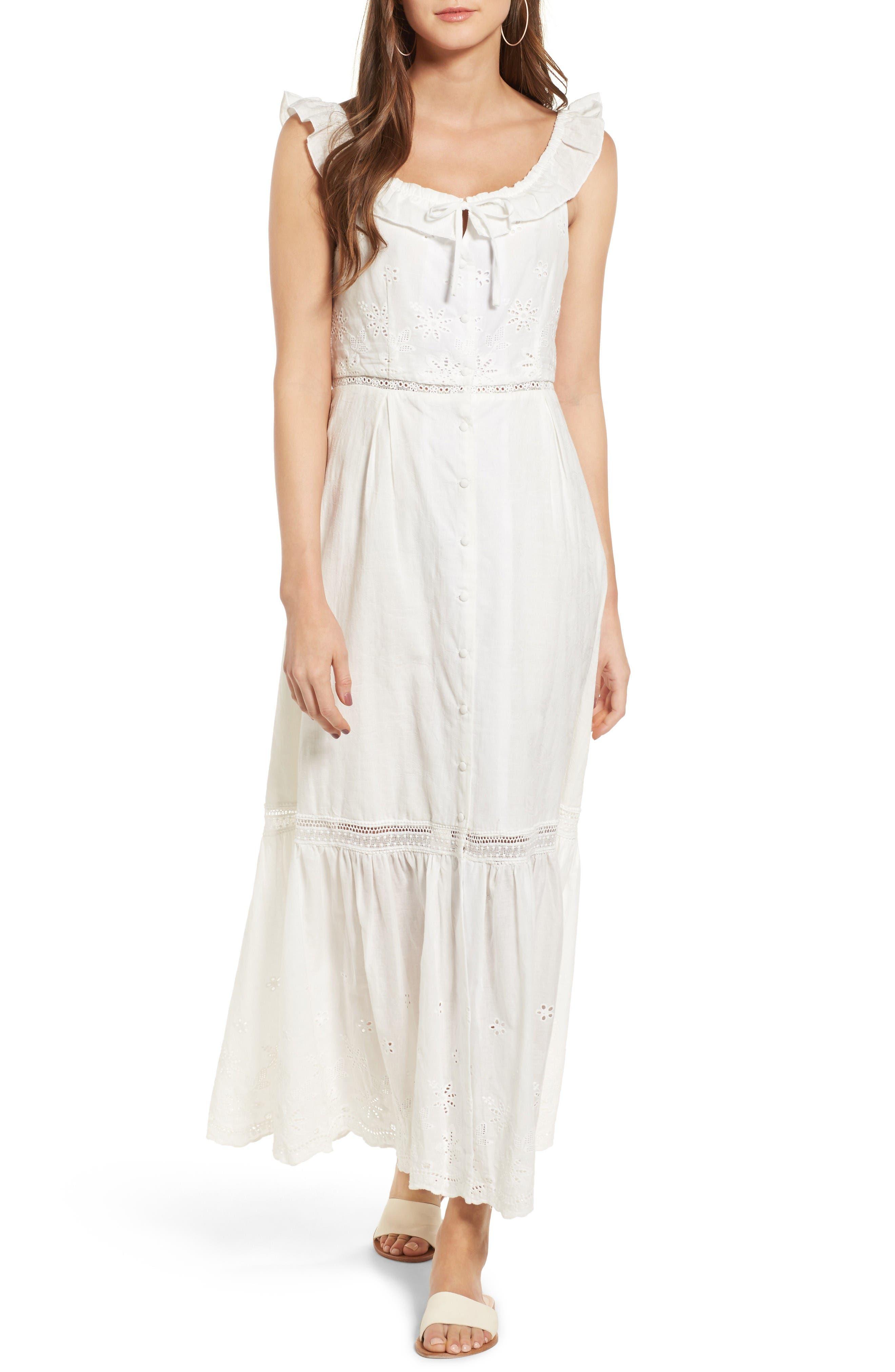 Sky Might Fall Midi Dress,                         Main,                         color, Off White