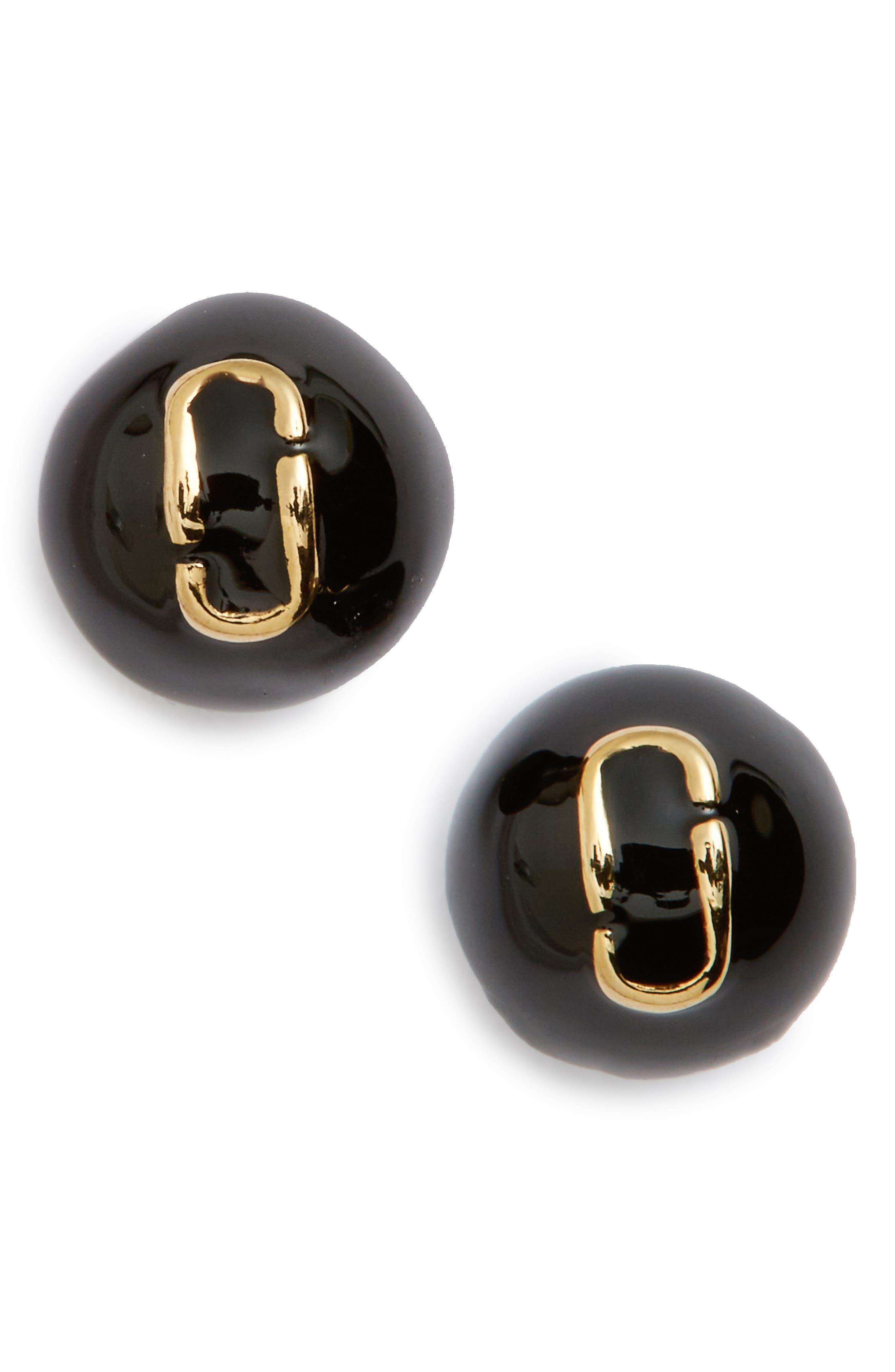 MARC JACOBS Icon Enamel Ball Stud Earrings