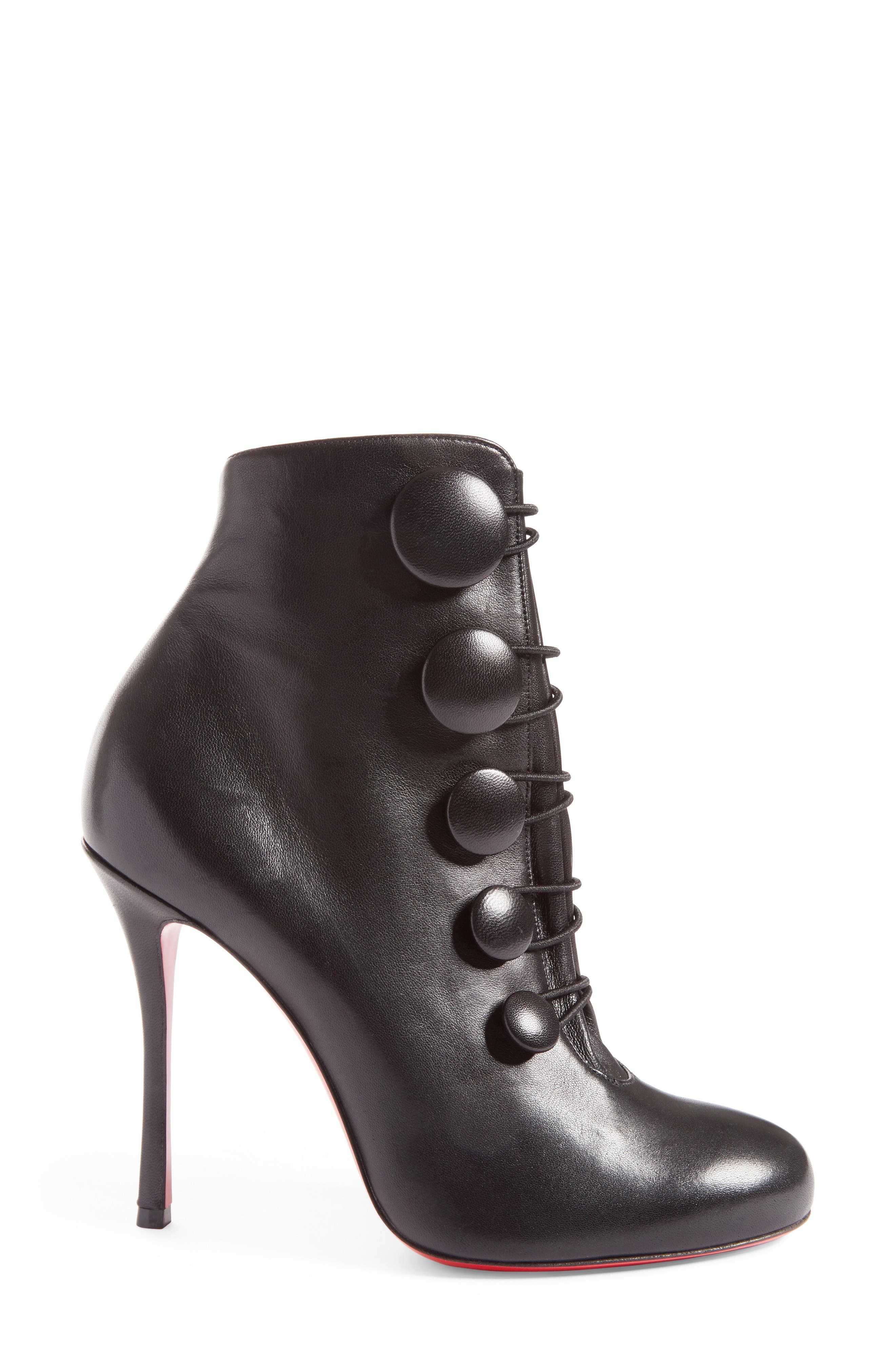 Booton Bootie,                             Alternate thumbnail 4, color,                             Black Leather